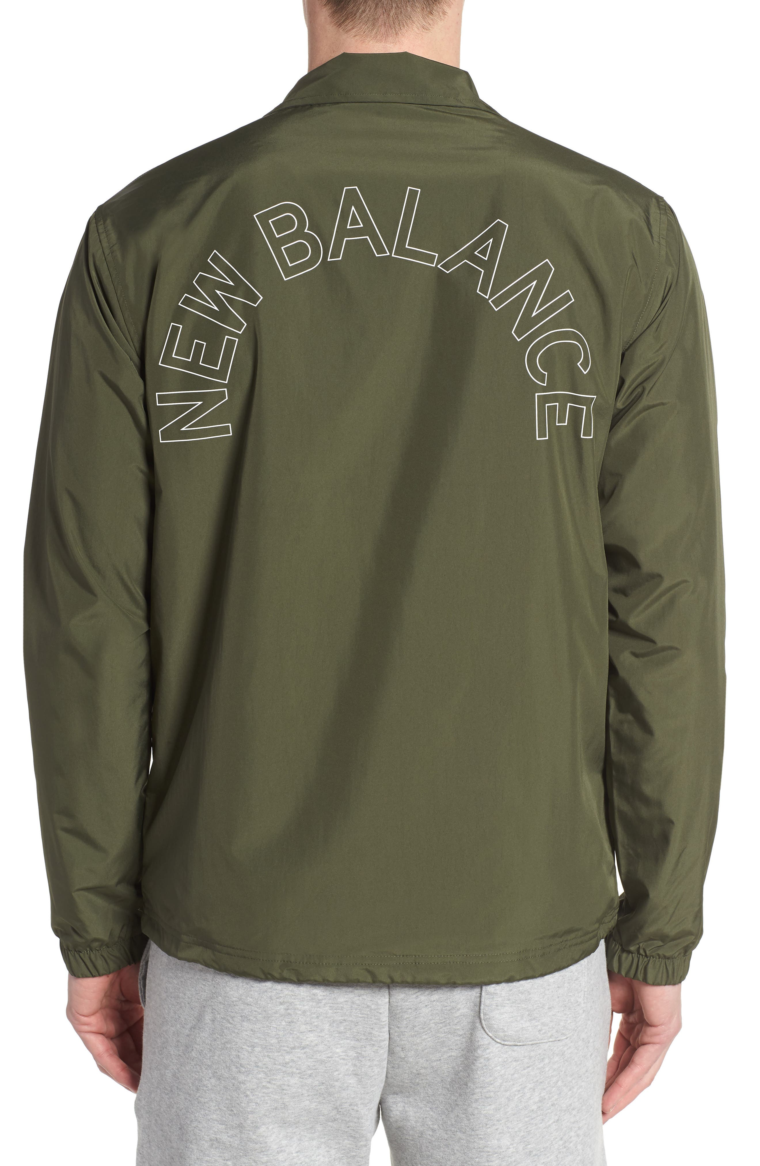 Classic Coach's Jacket,                             Alternate thumbnail 2, color,                             DARK COVERT GREEN