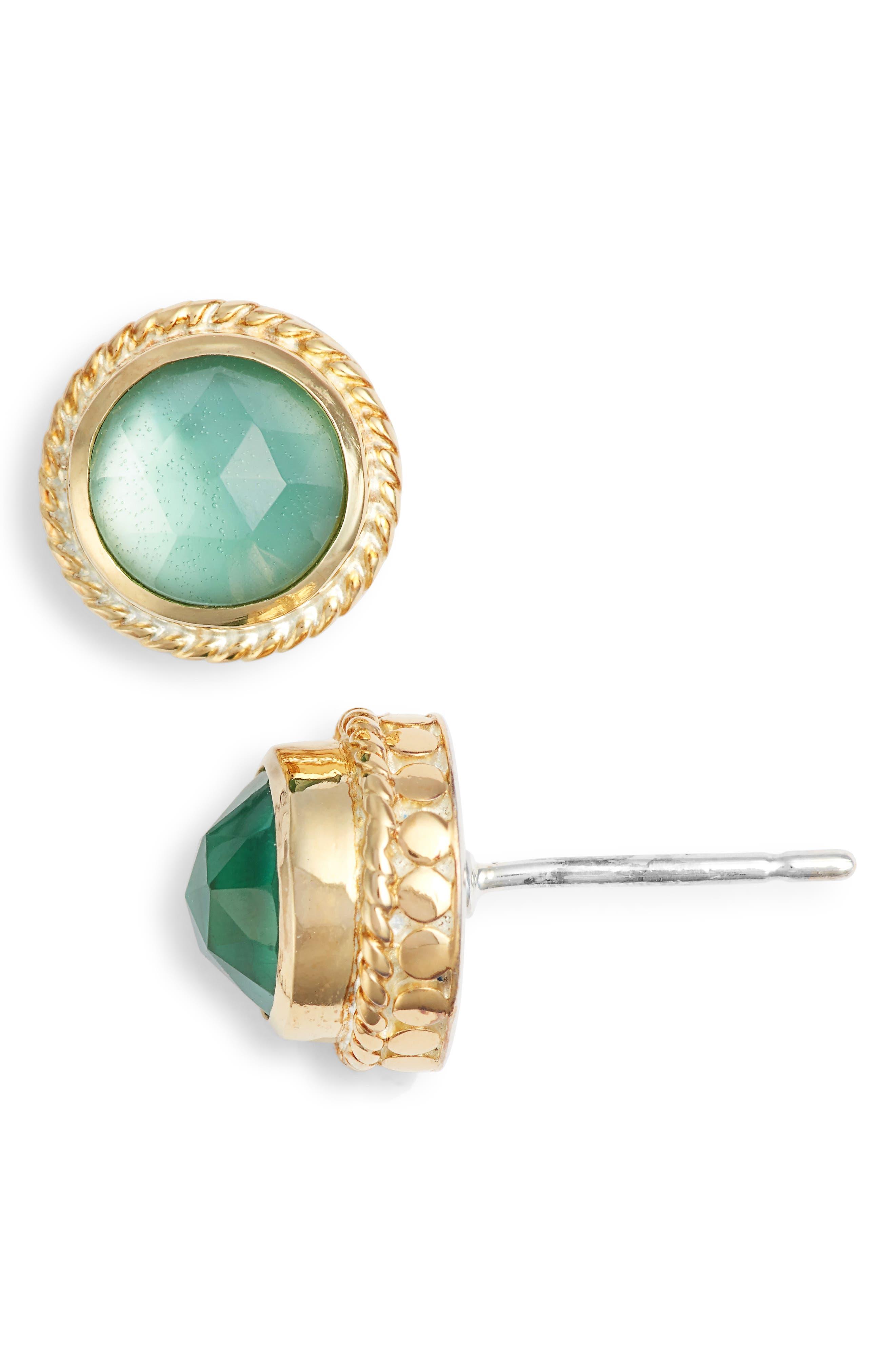 Stone Stud Earrings,                             Main thumbnail 7, color,
