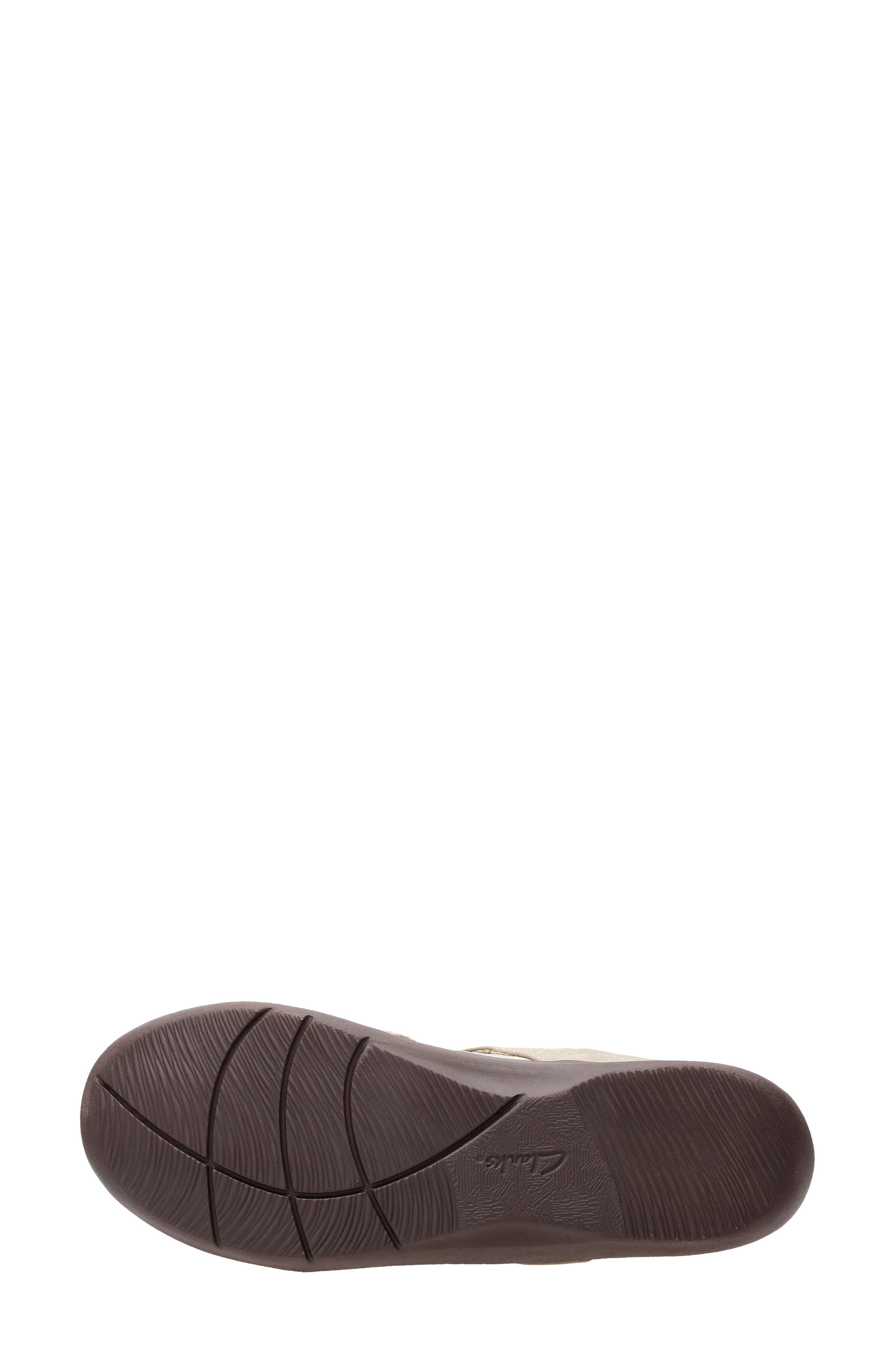 CLARKS<SUP>®</SUP>,                             Sillian Bella Mary Jane Flat,                             Alternate thumbnail 5, color,                             SAND SYNTHETIC NUBUCK