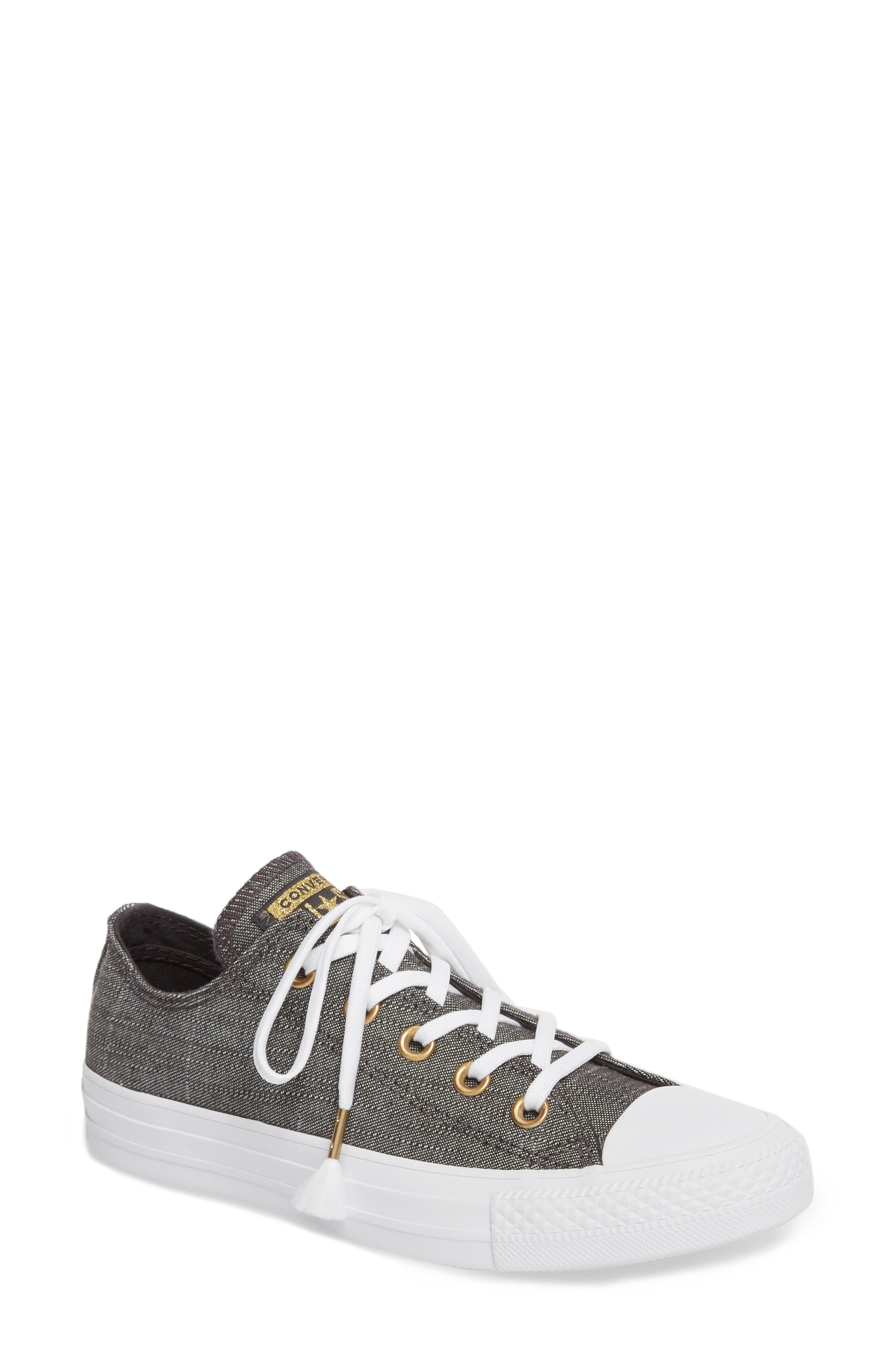 Chuck Taylor<sup>®</sup> All Star<sup>®</sup> Washed Linen Low Top Sneaker,                         Main,                         color, 006