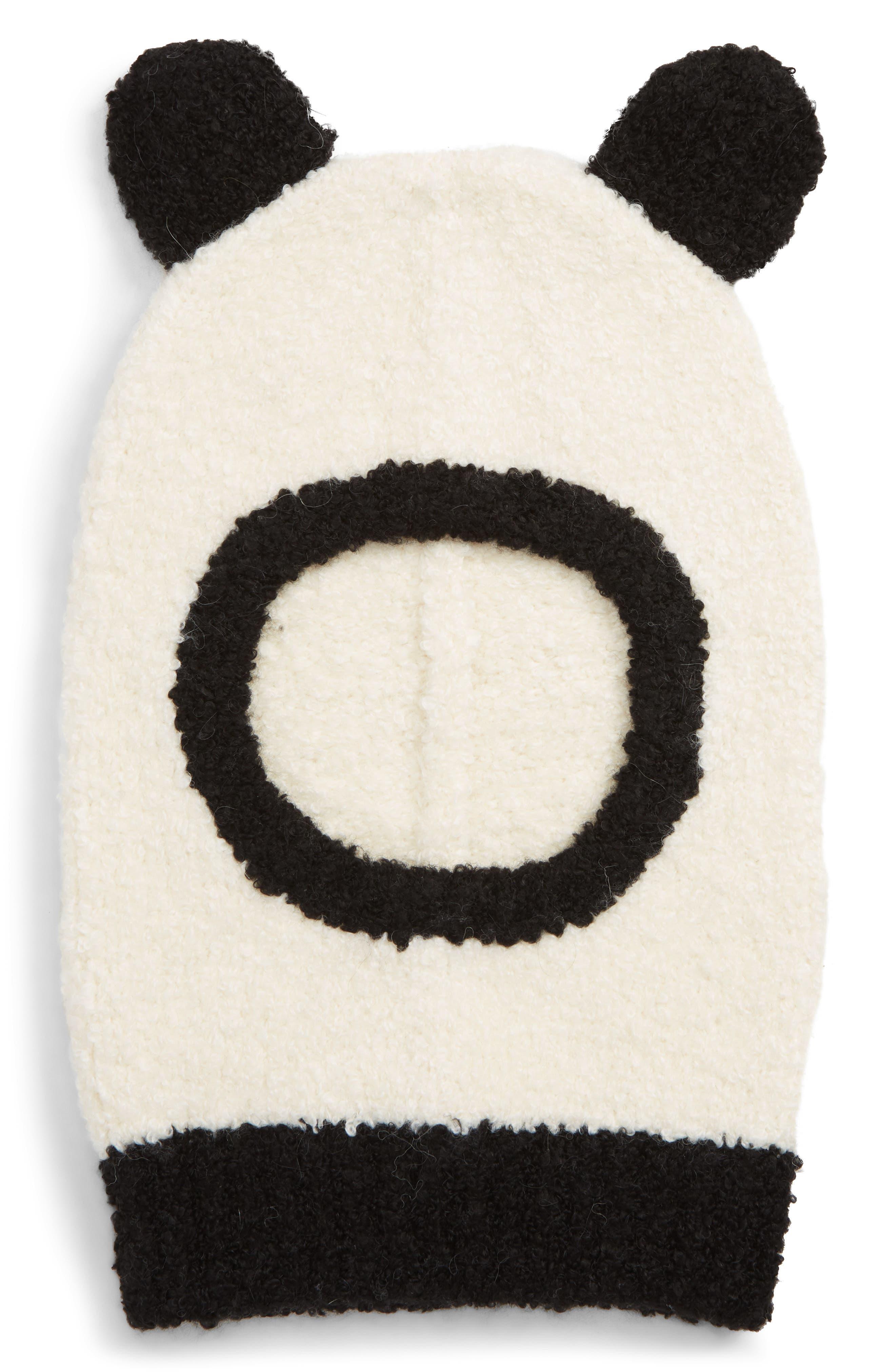 Panda Balaclava,                             Main thumbnail 1, color,                             BLACK CHAMPAGNE