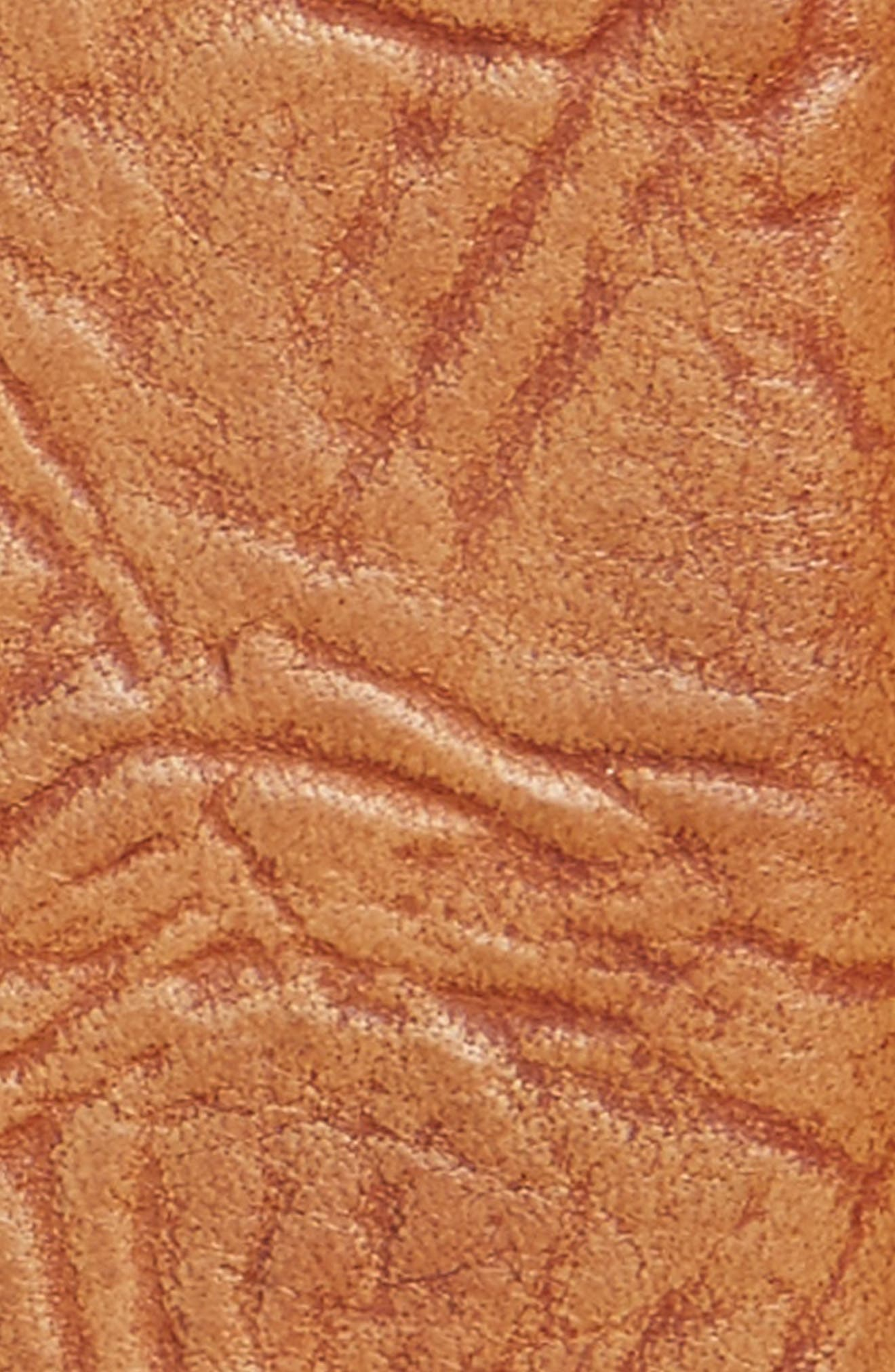 Puckered Leather Belt,                             Alternate thumbnail 2, color,                             SADDLE