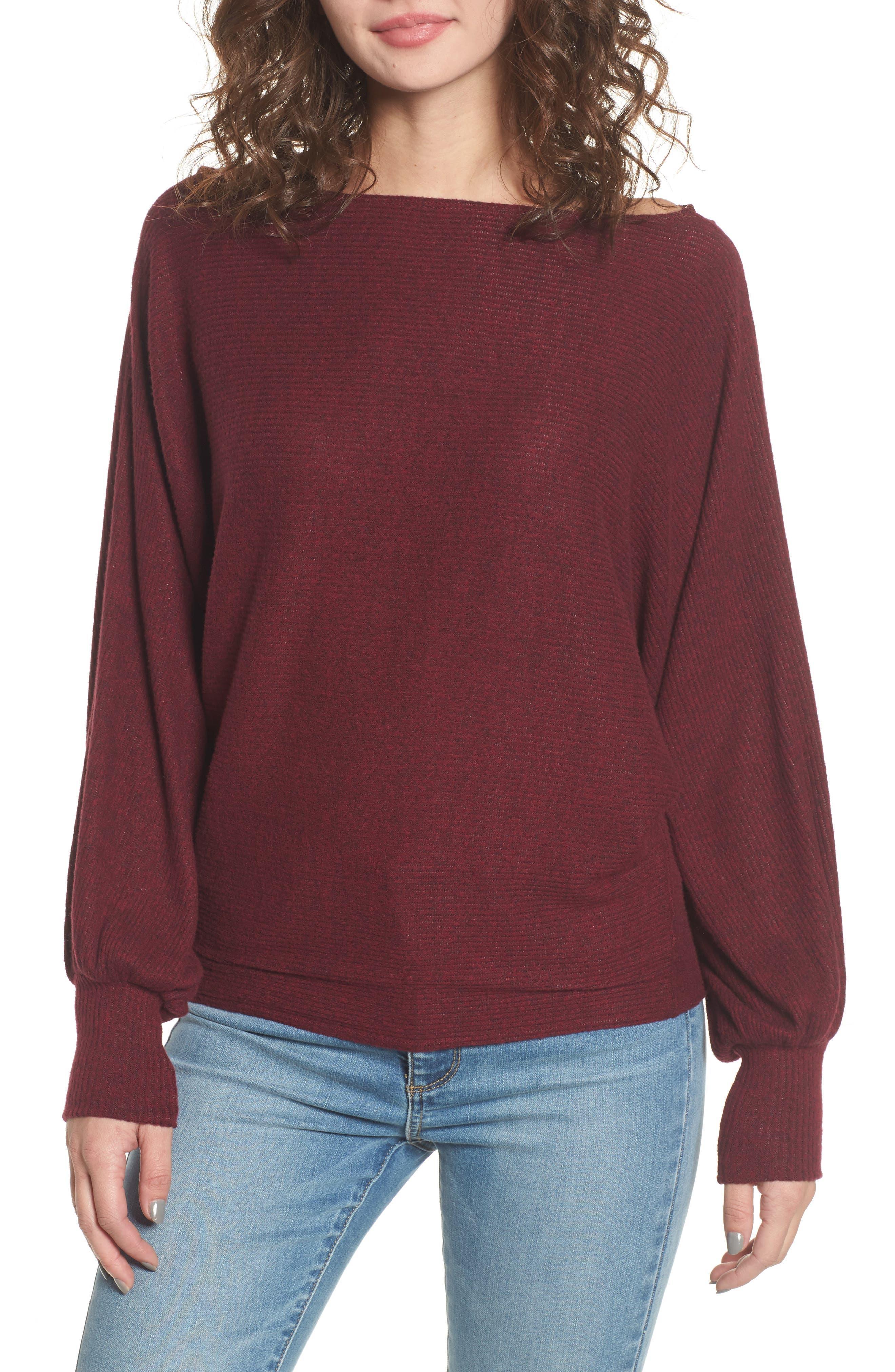 Balloon Sleeve Sweater,                         Main,                         color, 930