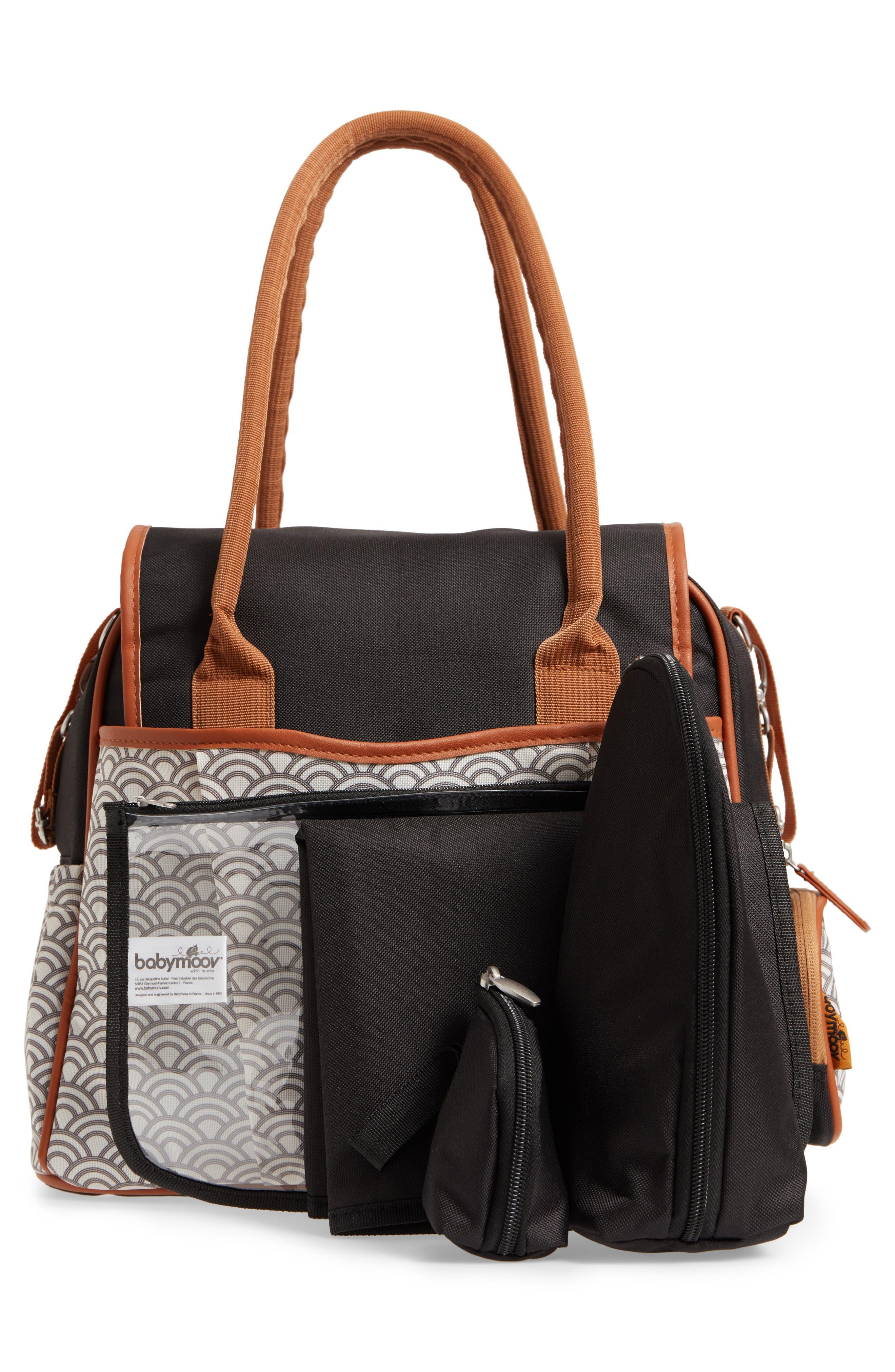 Style Diaper Bag,                             Alternate thumbnail 4, color,                             BLACK