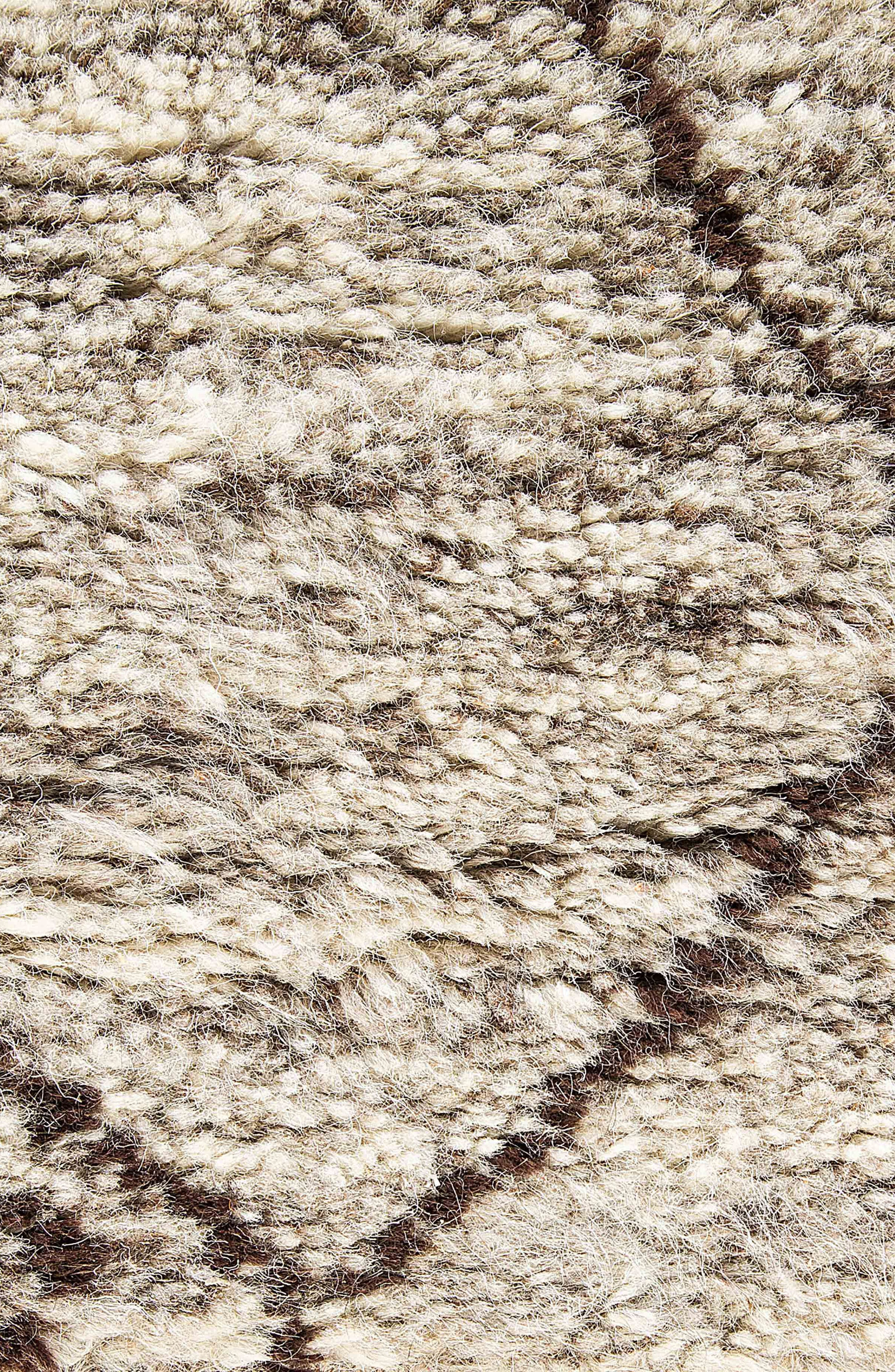 'Zola' Hand Knotted Wool Rug,                             Alternate thumbnail 4, color,                             NATURAL/ BROWN