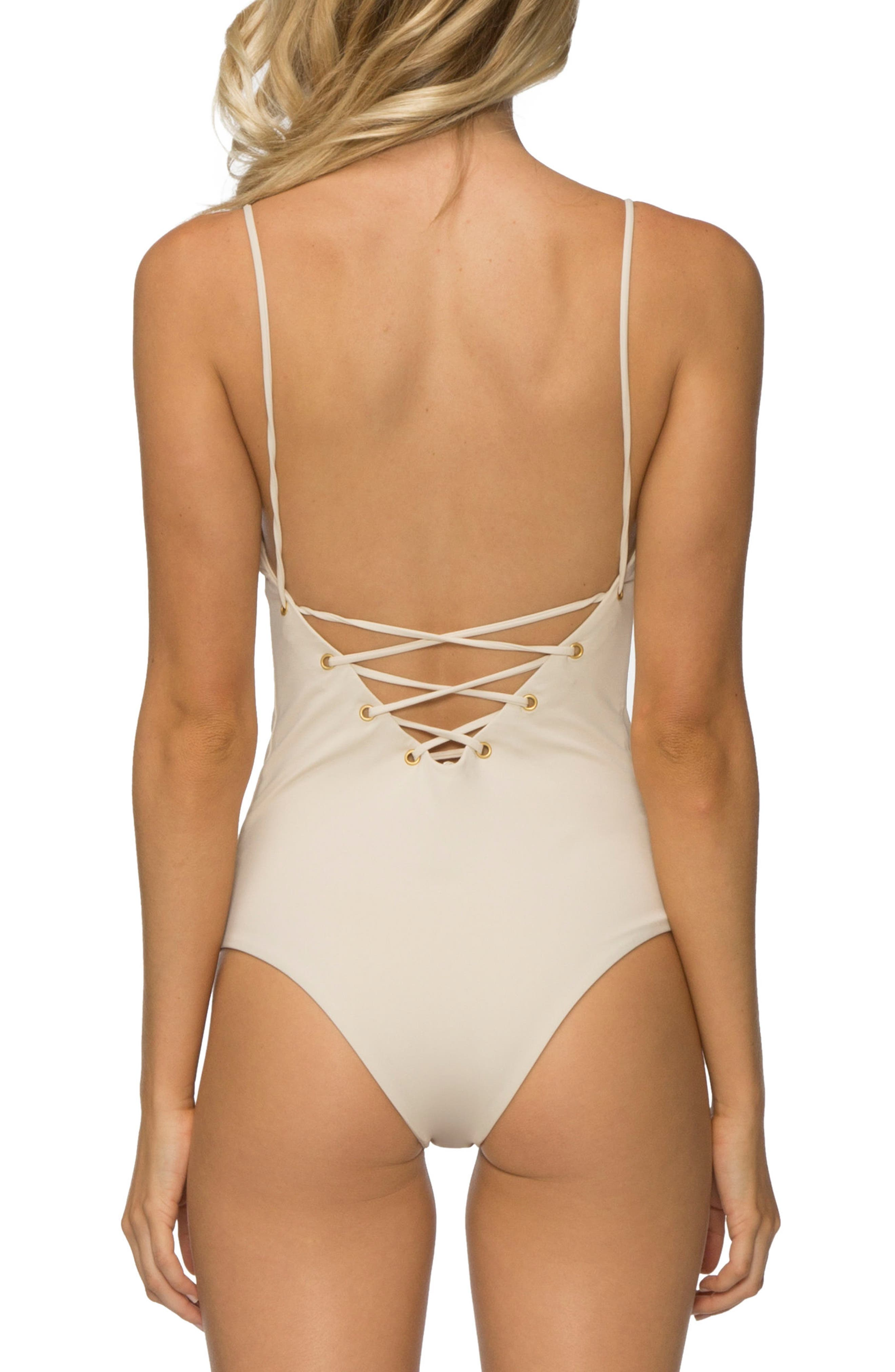 Monahan One-Piece Swimsuit,                             Alternate thumbnail 2, color,                             TAPIOCA