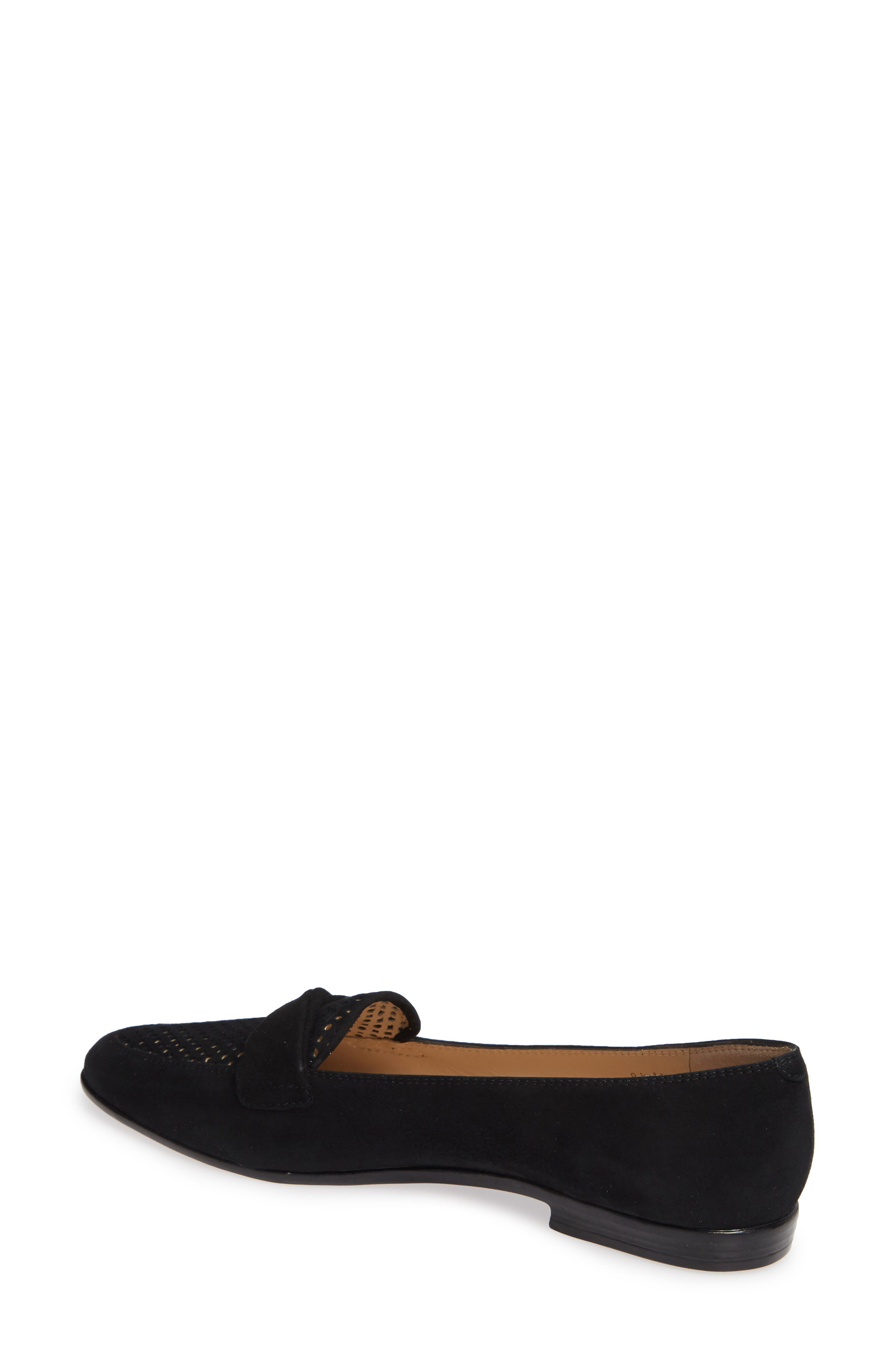 AMALFI BY RANGONI,                             Osimo X Perforated Loafer,                             Alternate thumbnail 2, color,                             BLACK SUEDE