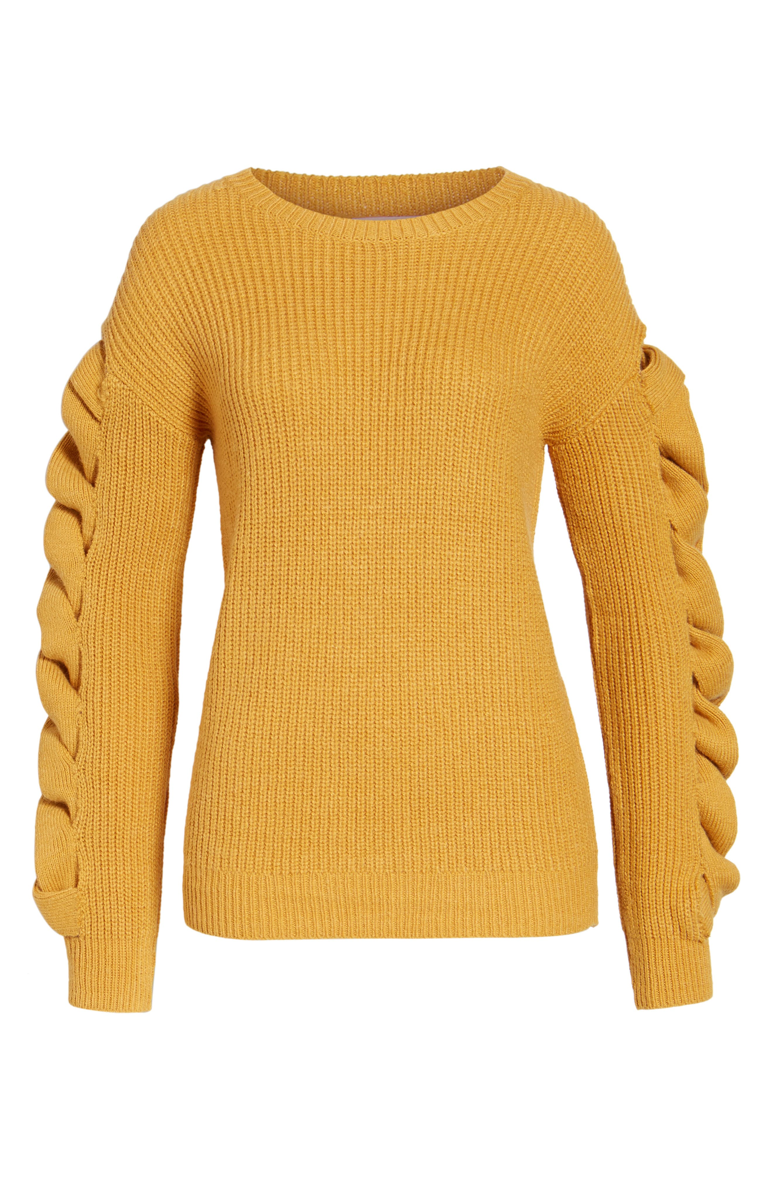 Twist Sleeve Sweater,                             Alternate thumbnail 17, color,