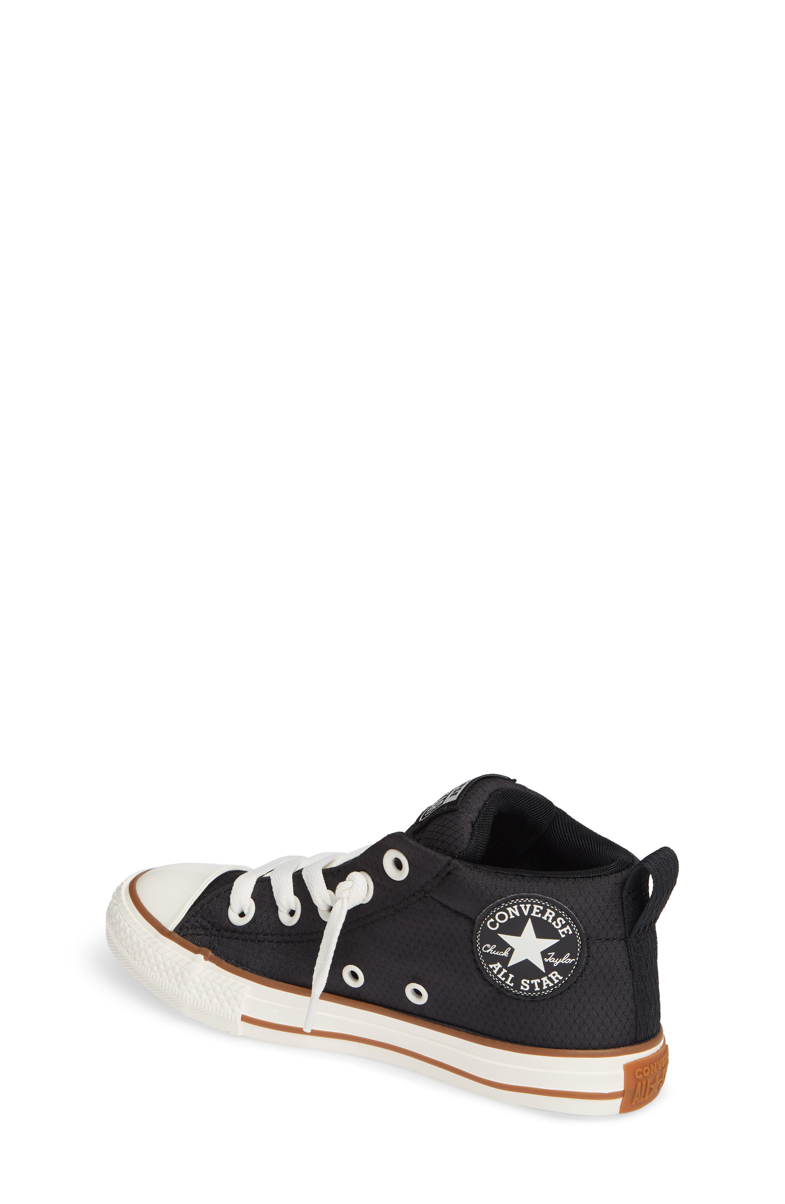 Chuck Taylor<sup>®</sup> All Star<sup>®</sup> Street Mid Top Sneaker,                             Alternate thumbnail 2, color,                             BLACK/ GUM/ EGRET