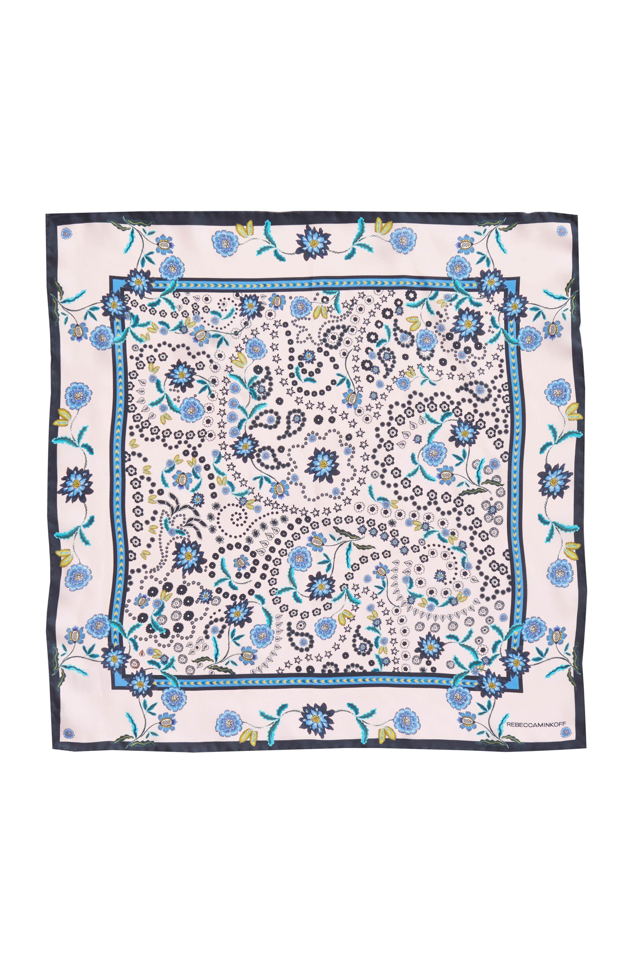 Mixed Floral Paisley Silk Bandana,                             Alternate thumbnail 3, color,                             650