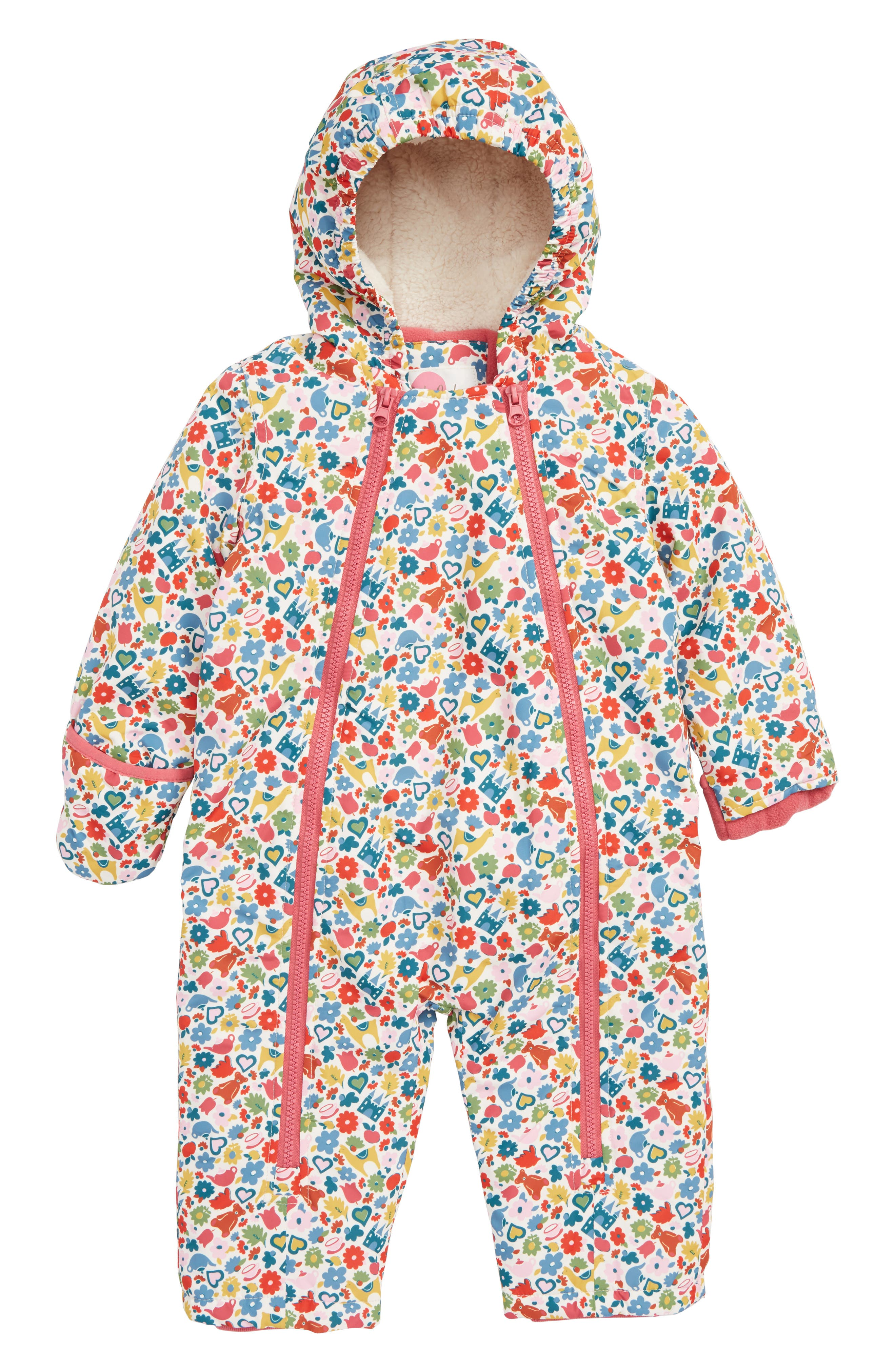 Print Waterproof Snowsuit,                         Main,                         color, MUL MULTI TINY TOYS