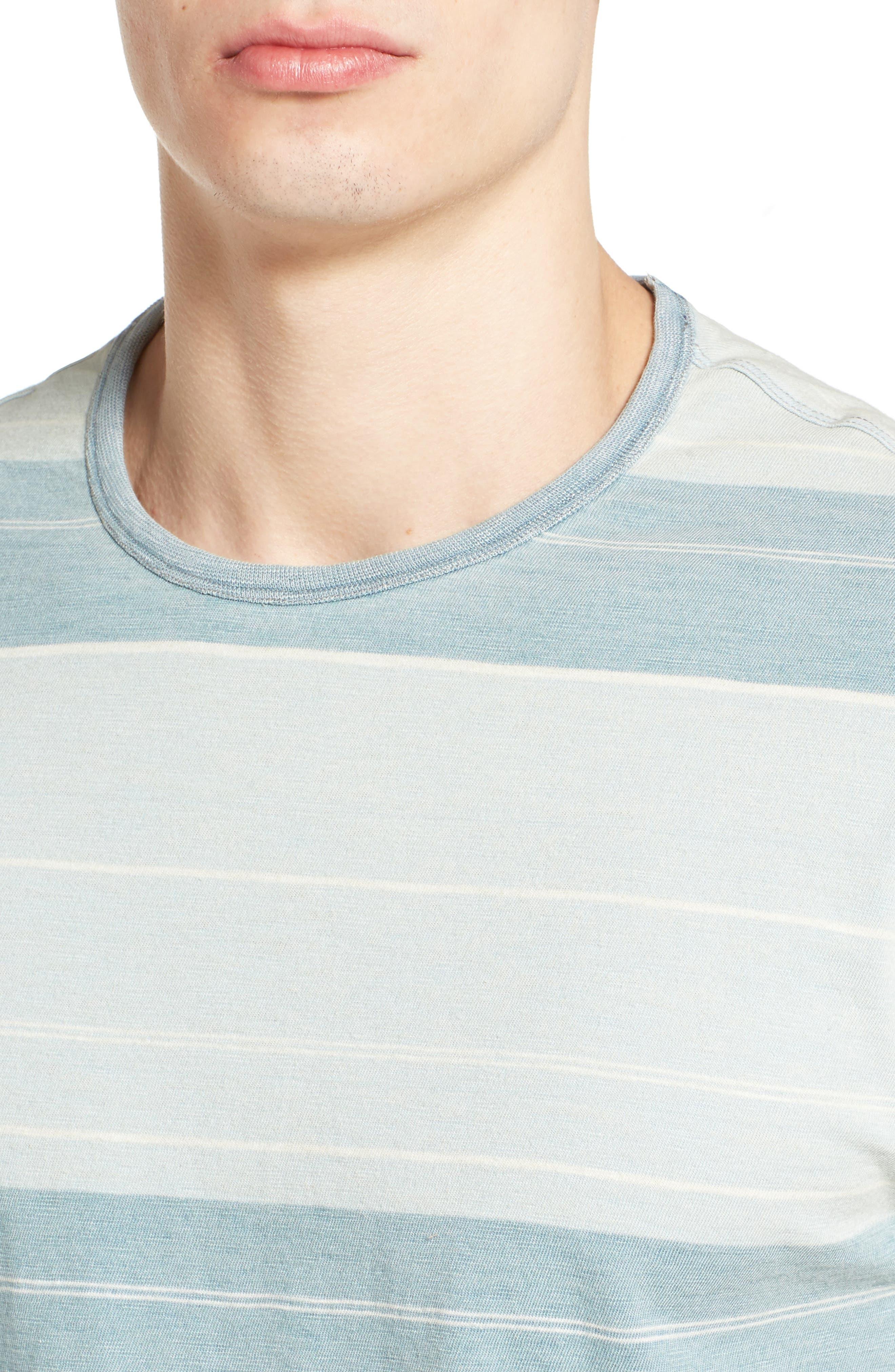 Tully Indigo Stripe T-Shirt,                             Alternate thumbnail 4, color,                             458