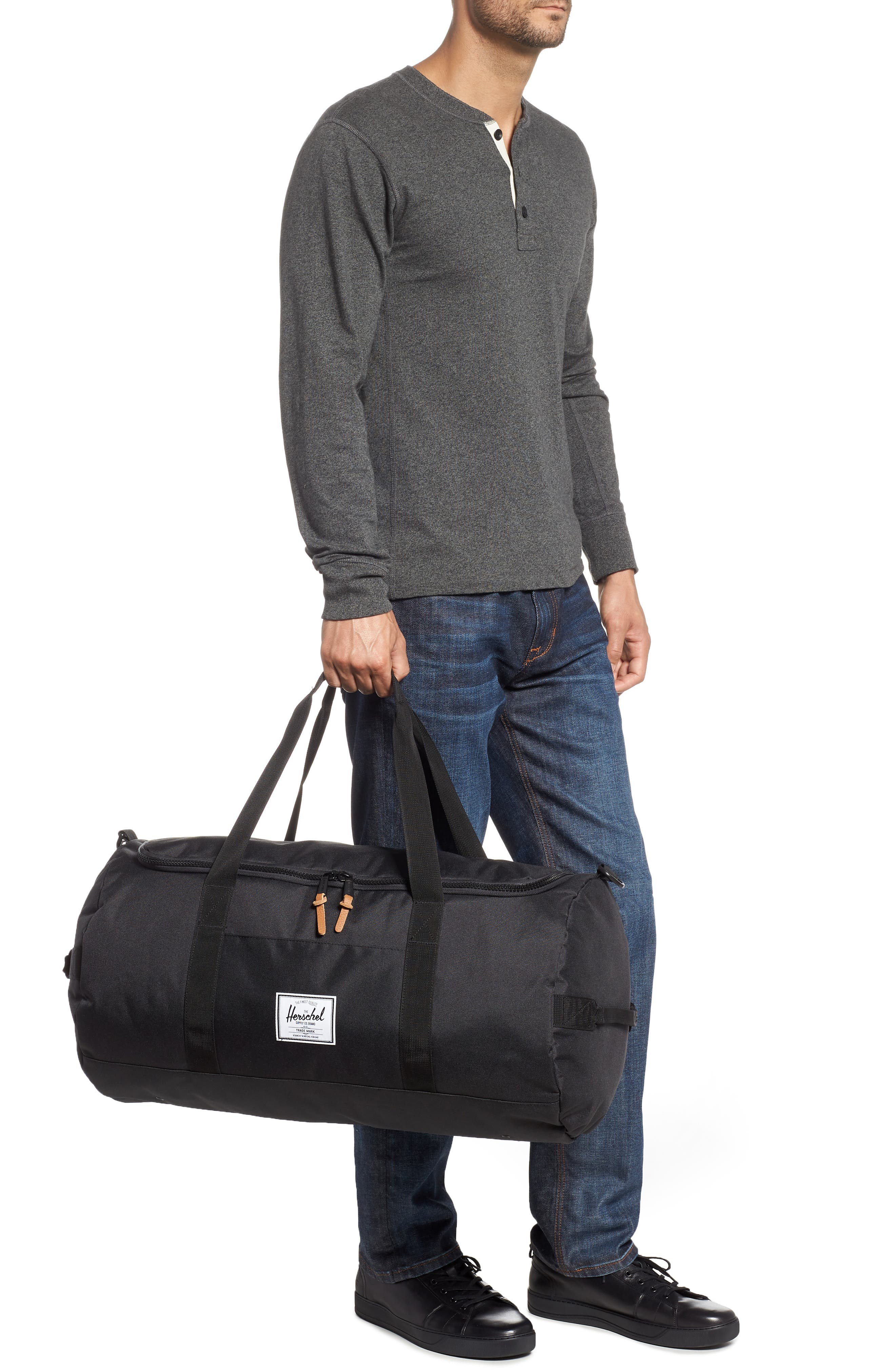 Sutton Duffel Bag,                             Alternate thumbnail 2, color,                             BLACK