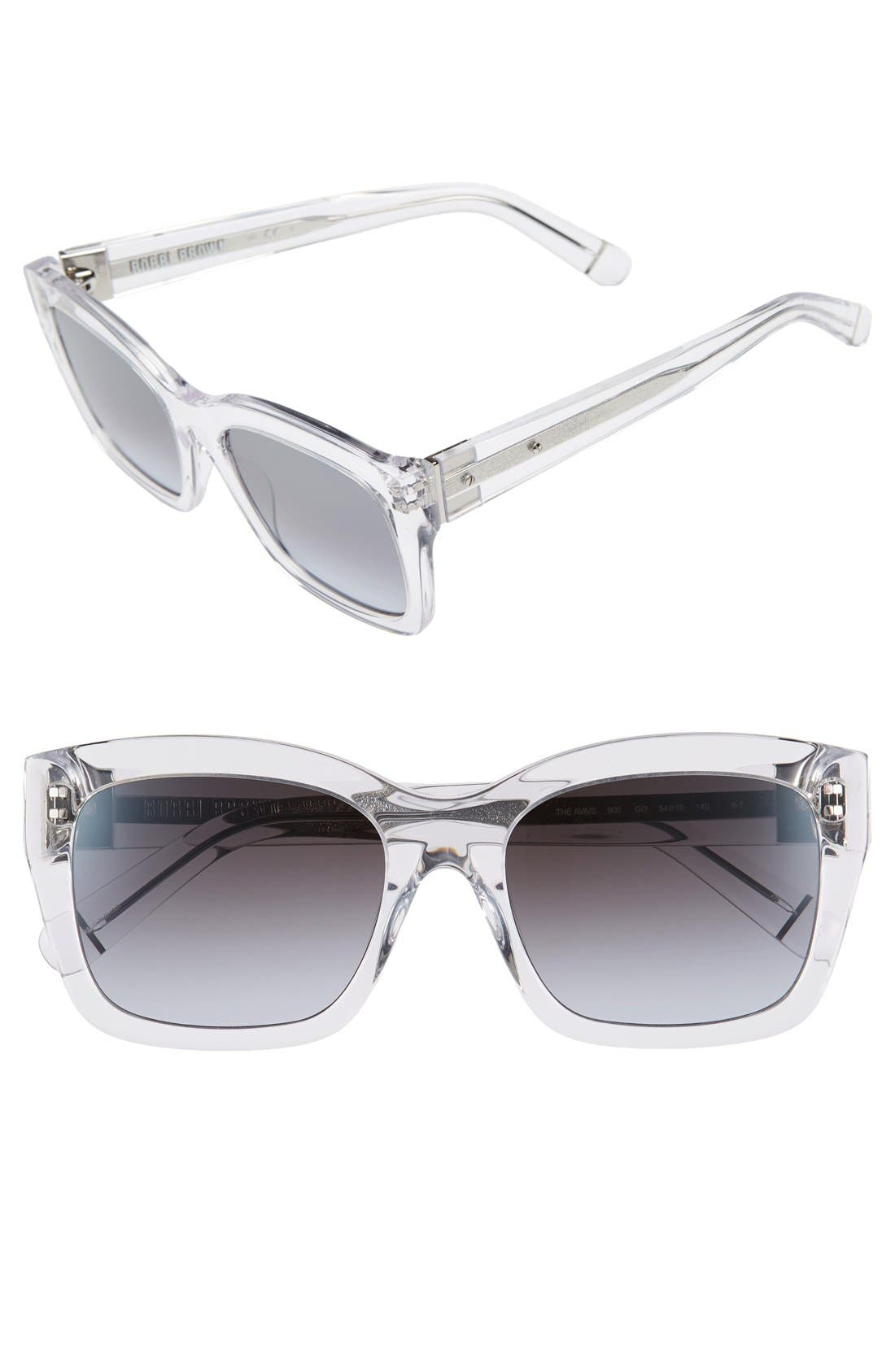'Ava' 54mm Sunglasses,                             Main thumbnail 1, color,
