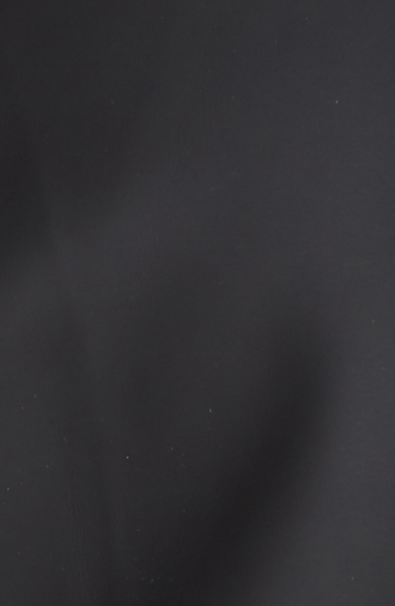 Rubberized Fishtail Parka,                             Alternate thumbnail 7, color,                             BLACK