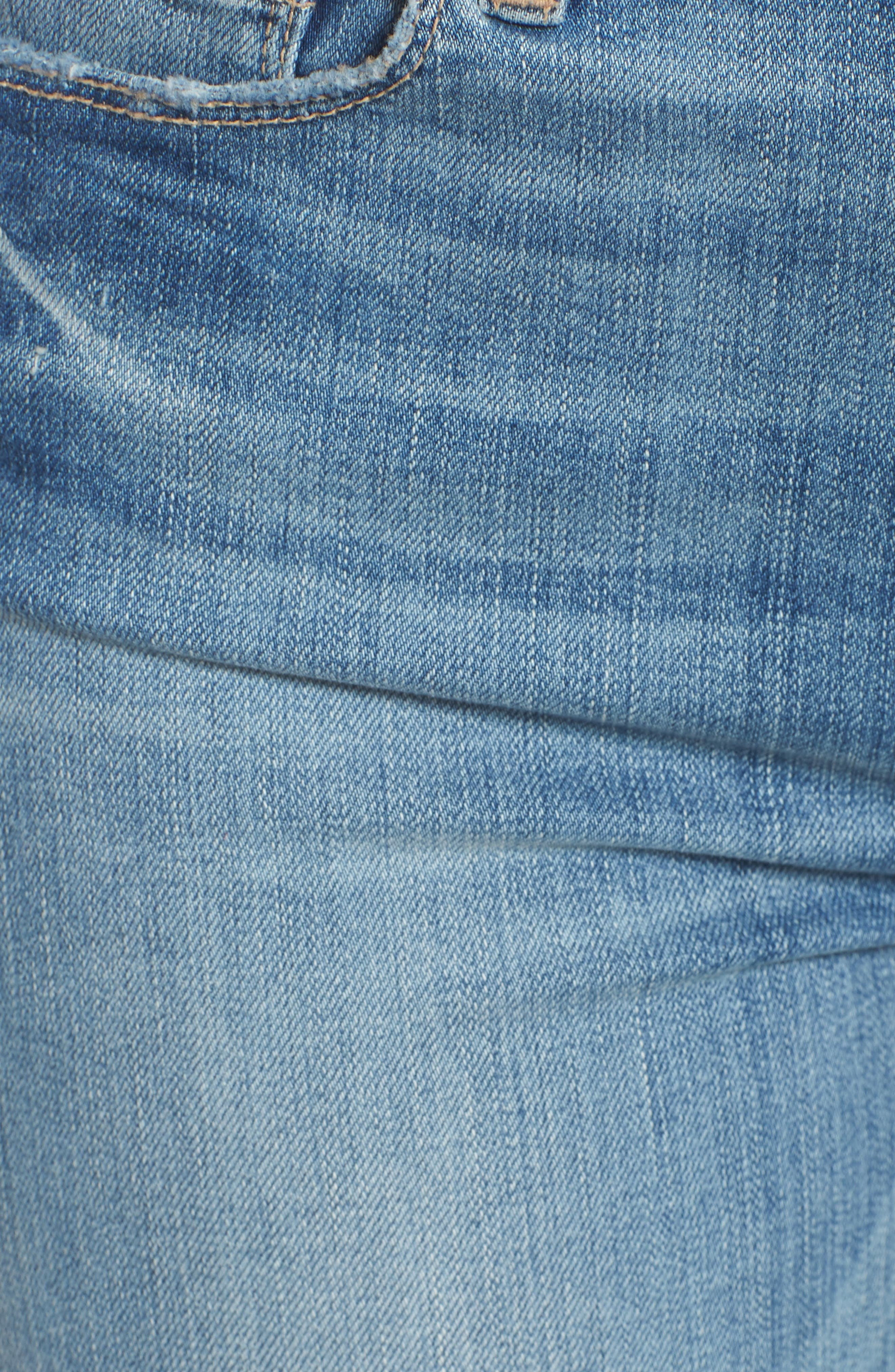 Hoxton High Waist Ankle Skinny Jeans,                             Alternate thumbnail 5, color,                             400