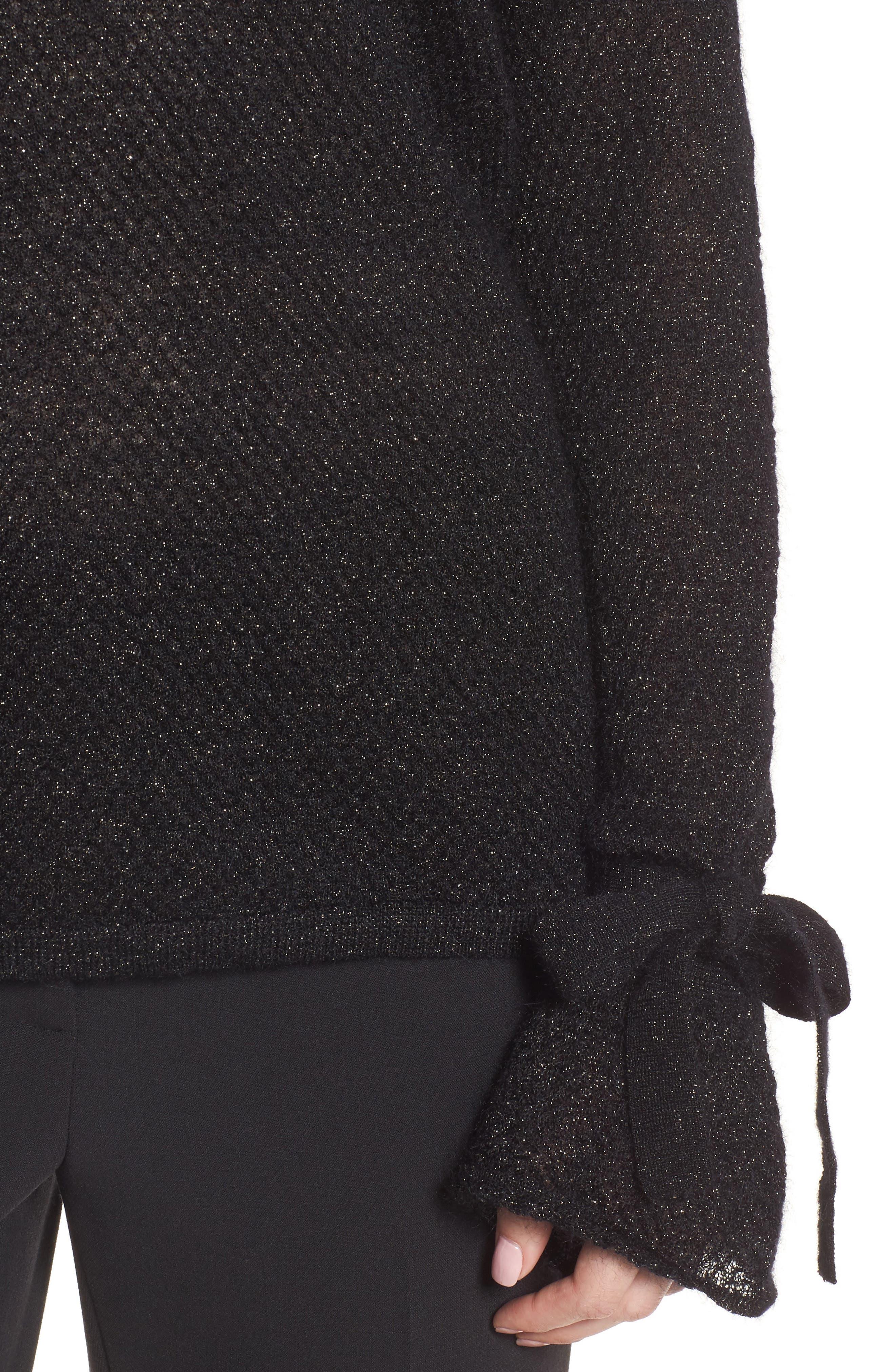Metallic Mohair Blend Sweater,                             Alternate thumbnail 8, color,