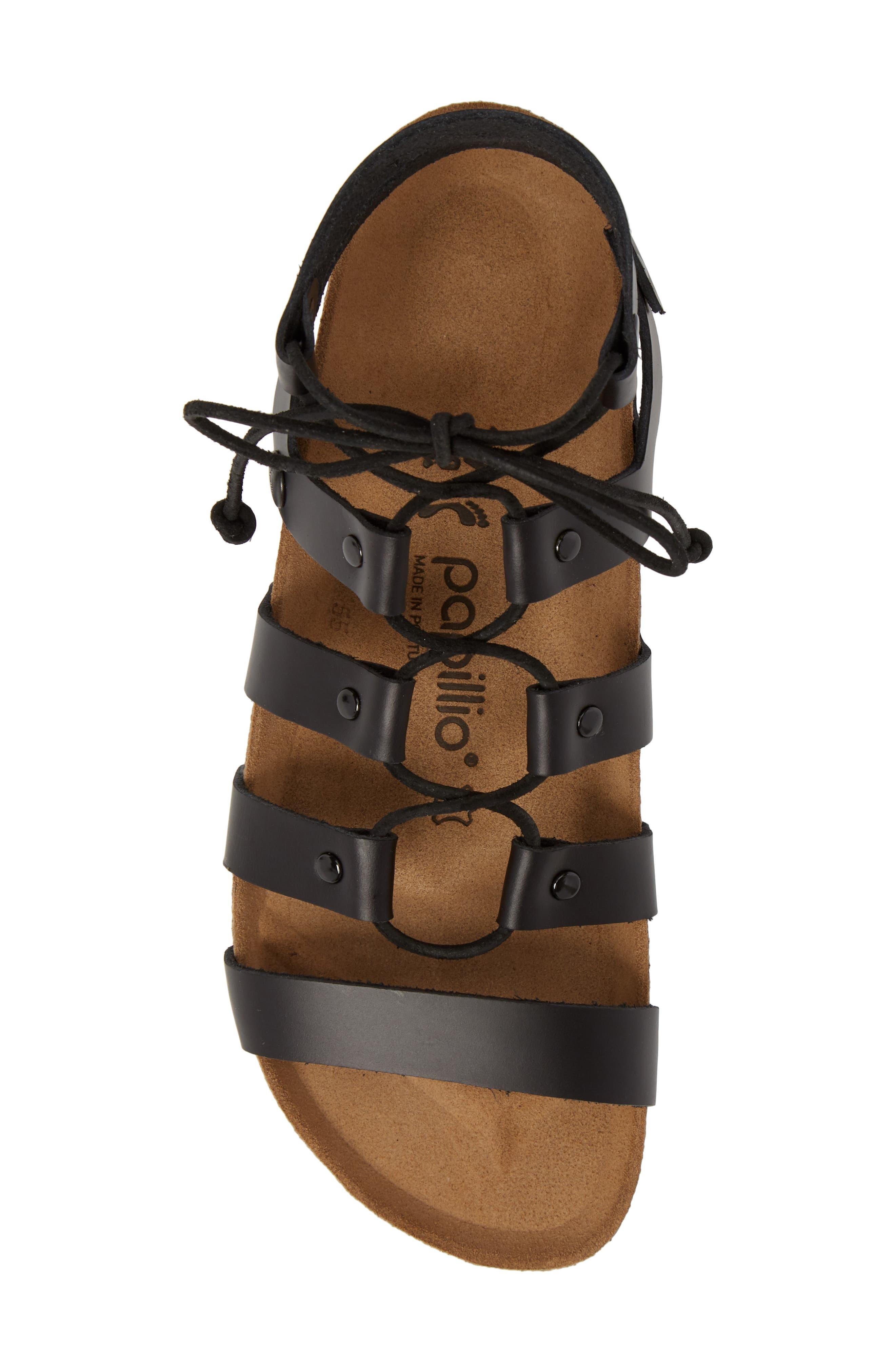 Papillio by Birkenstock Cleo Gladiator Sandal,                             Alternate thumbnail 5, color,                             001
