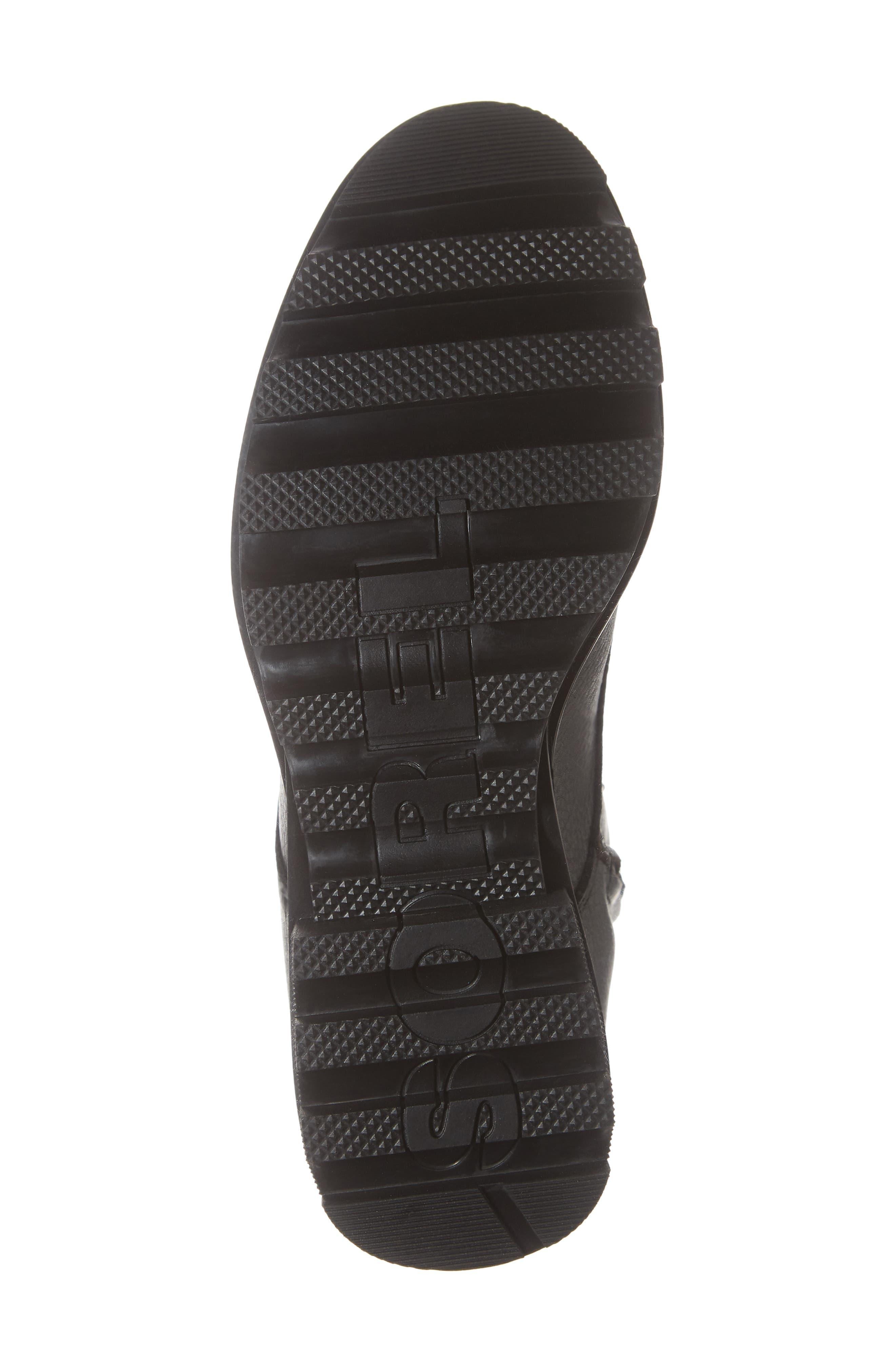 Phoenix Lace-Up Boot,                             Alternate thumbnail 6, color,                             BLACK
