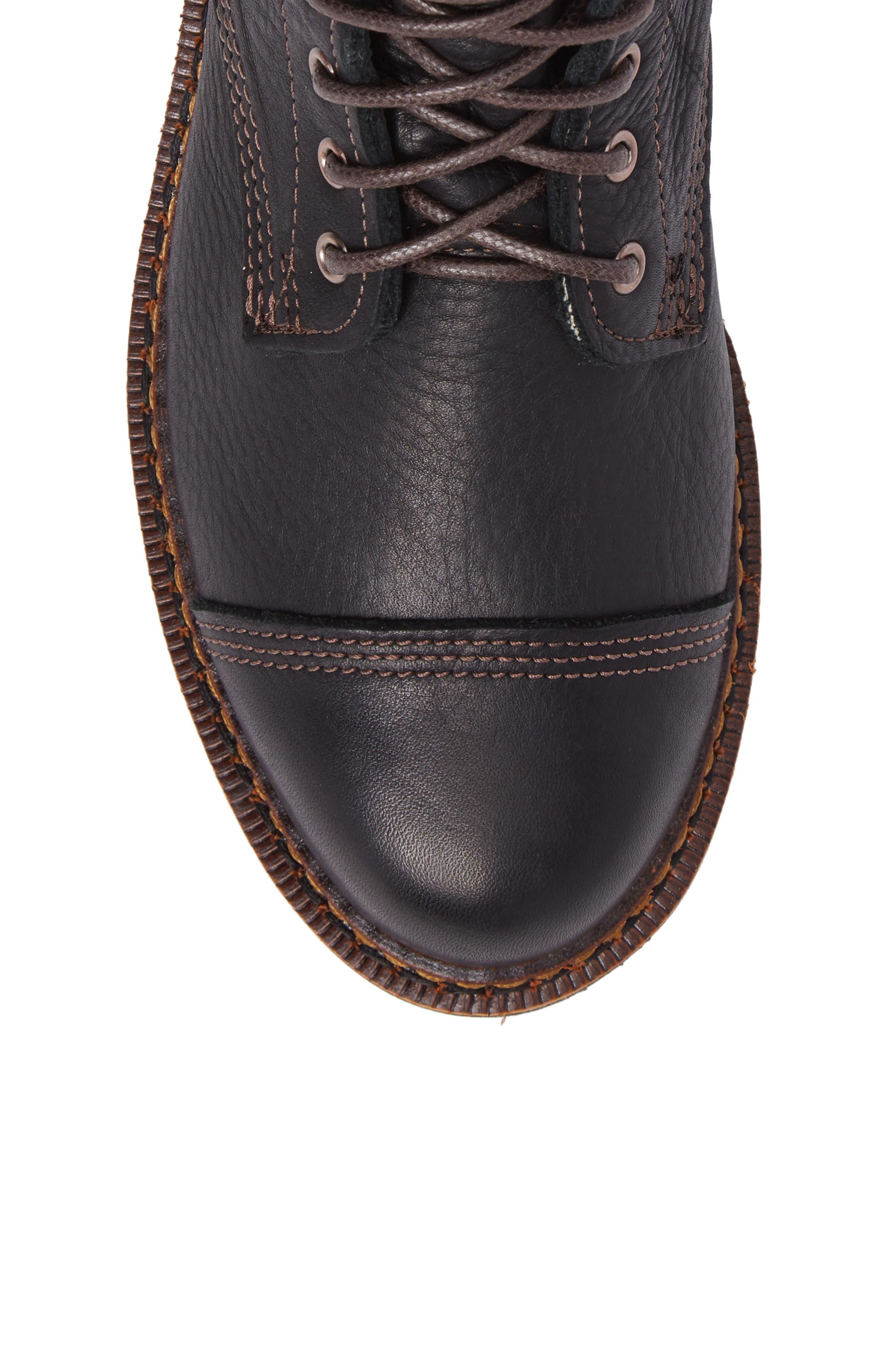 Jensen Cap Toe Boot,                             Alternate thumbnail 5, color,                             BLACK
