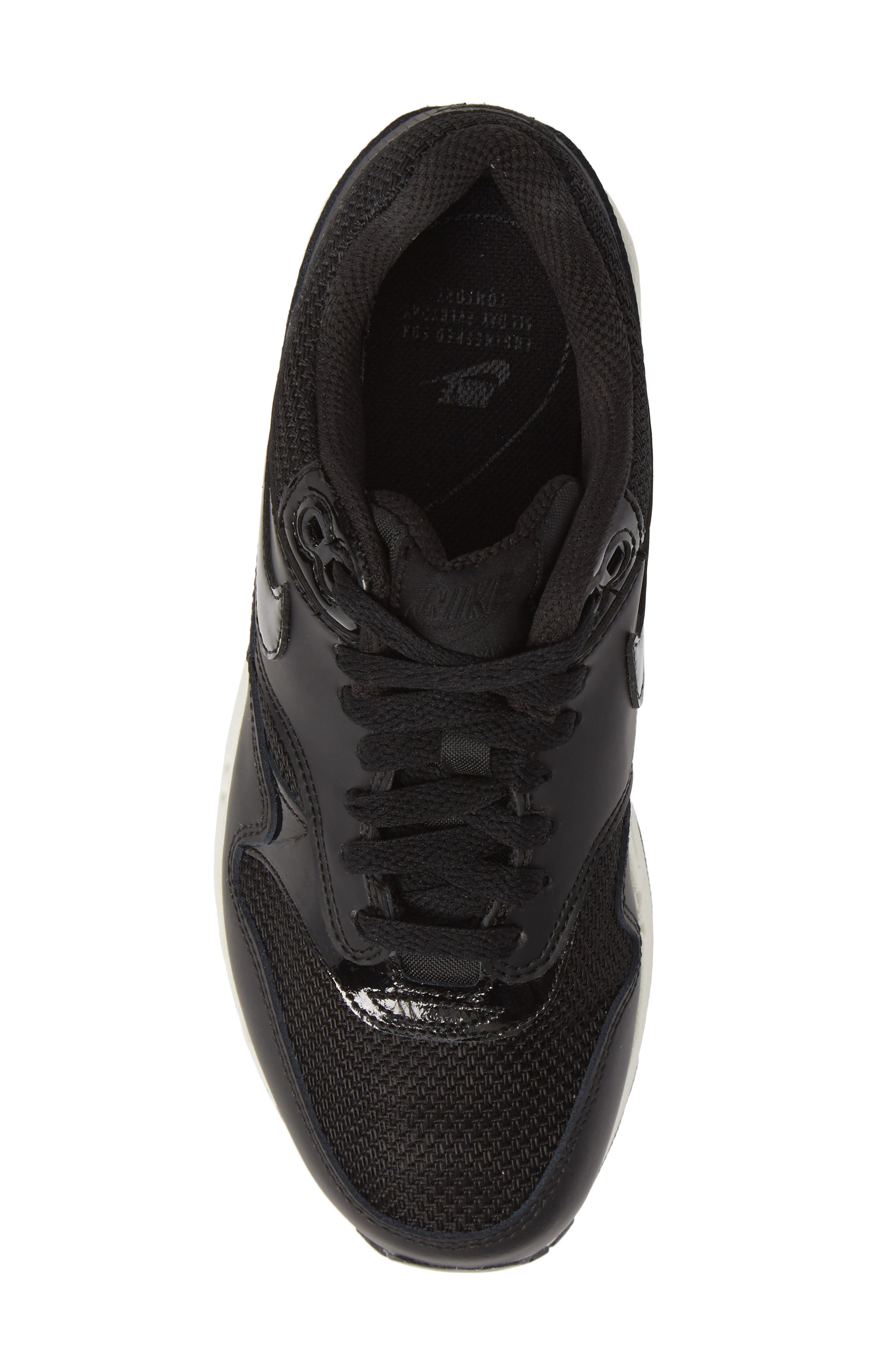 'Air Max 1 ND' Sneaker,                             Alternate thumbnail 5, color,                             BLACK/ BLACK-BLACK- WHITE