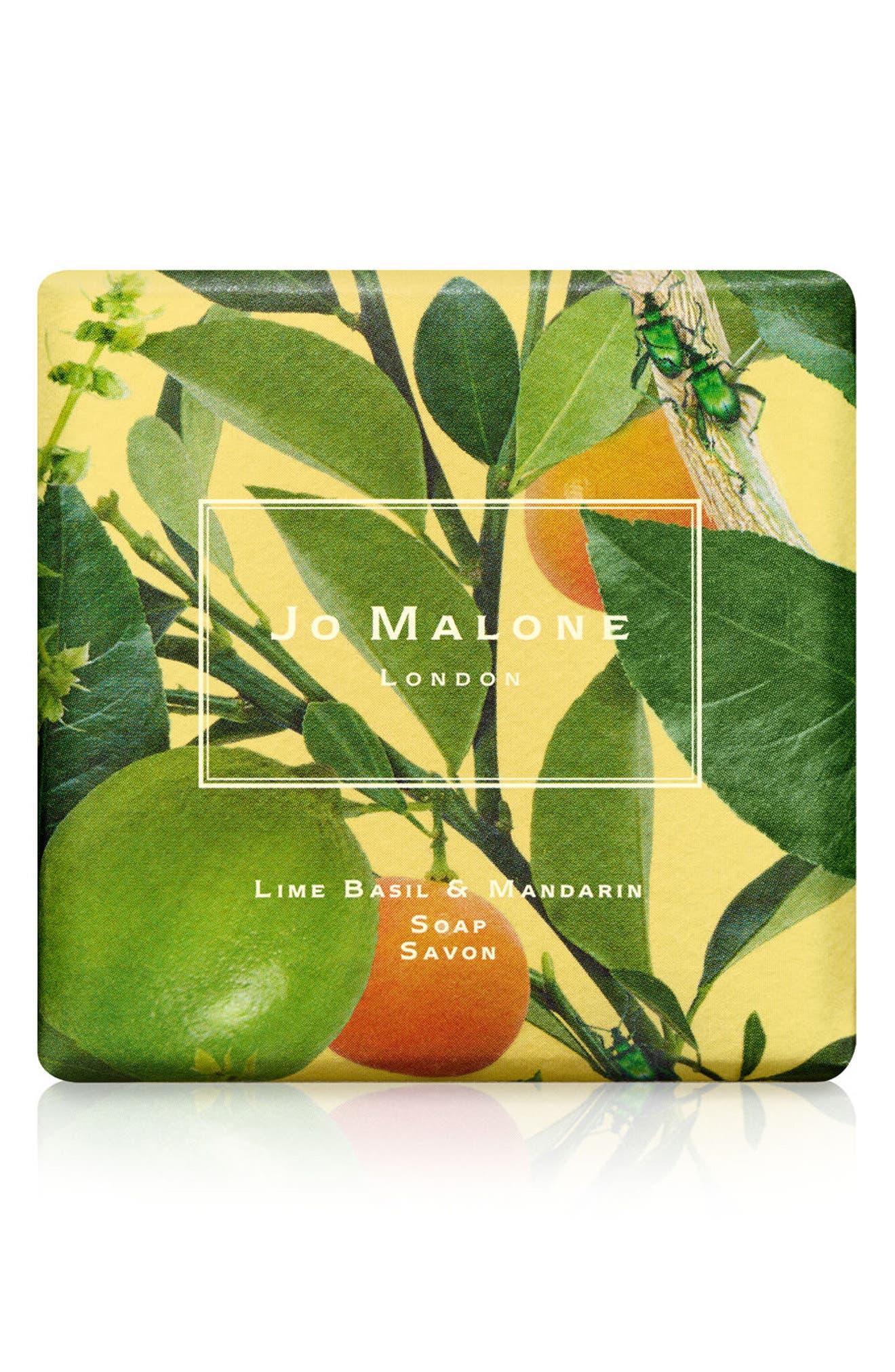 Lime, Basil & Mandarin Soap,                         Main,                         color, NO COLOR