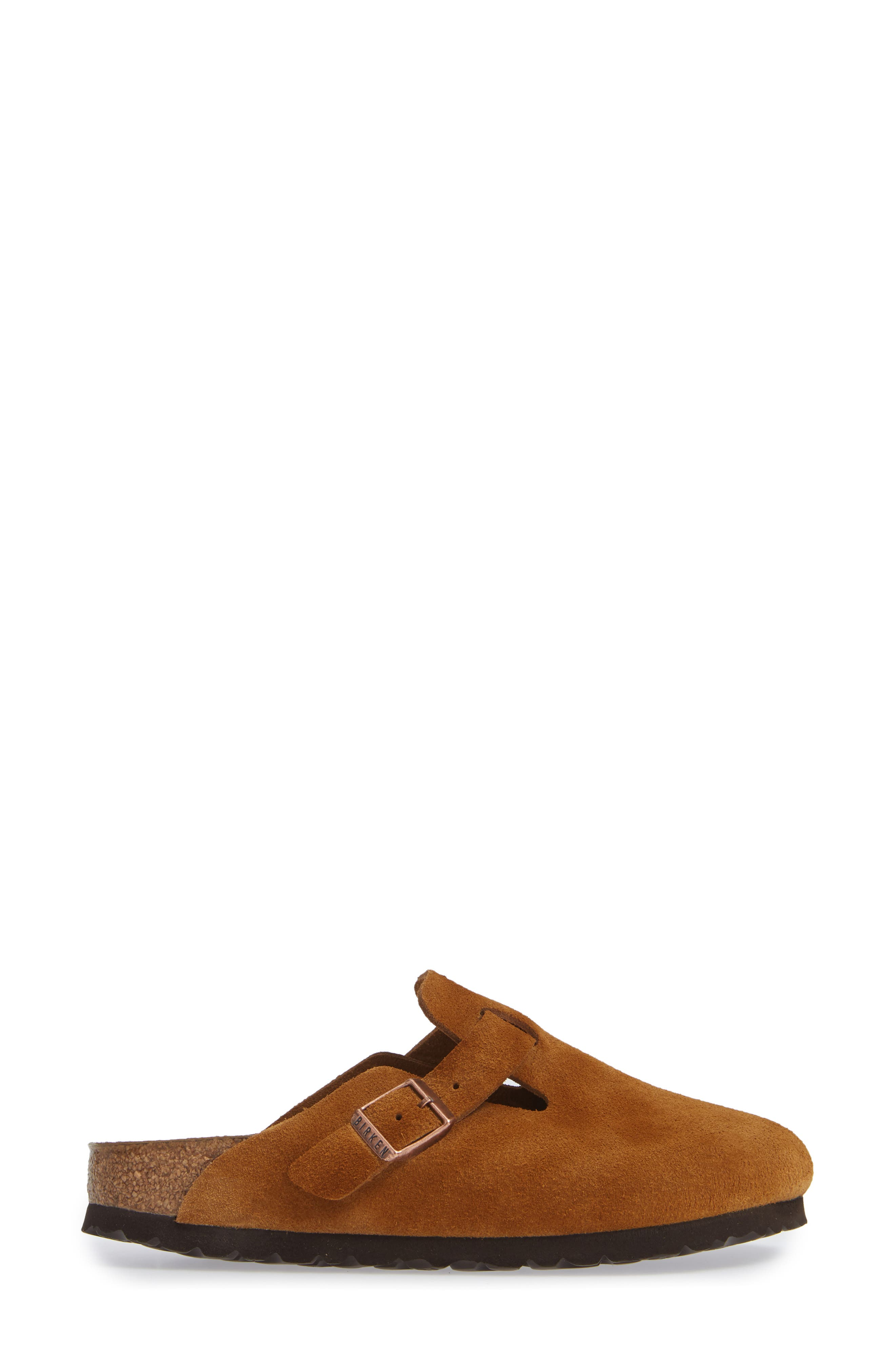 'Boston' Soft Footbed Clog,                             Alternate thumbnail 3, color,                             MINK SUEDE