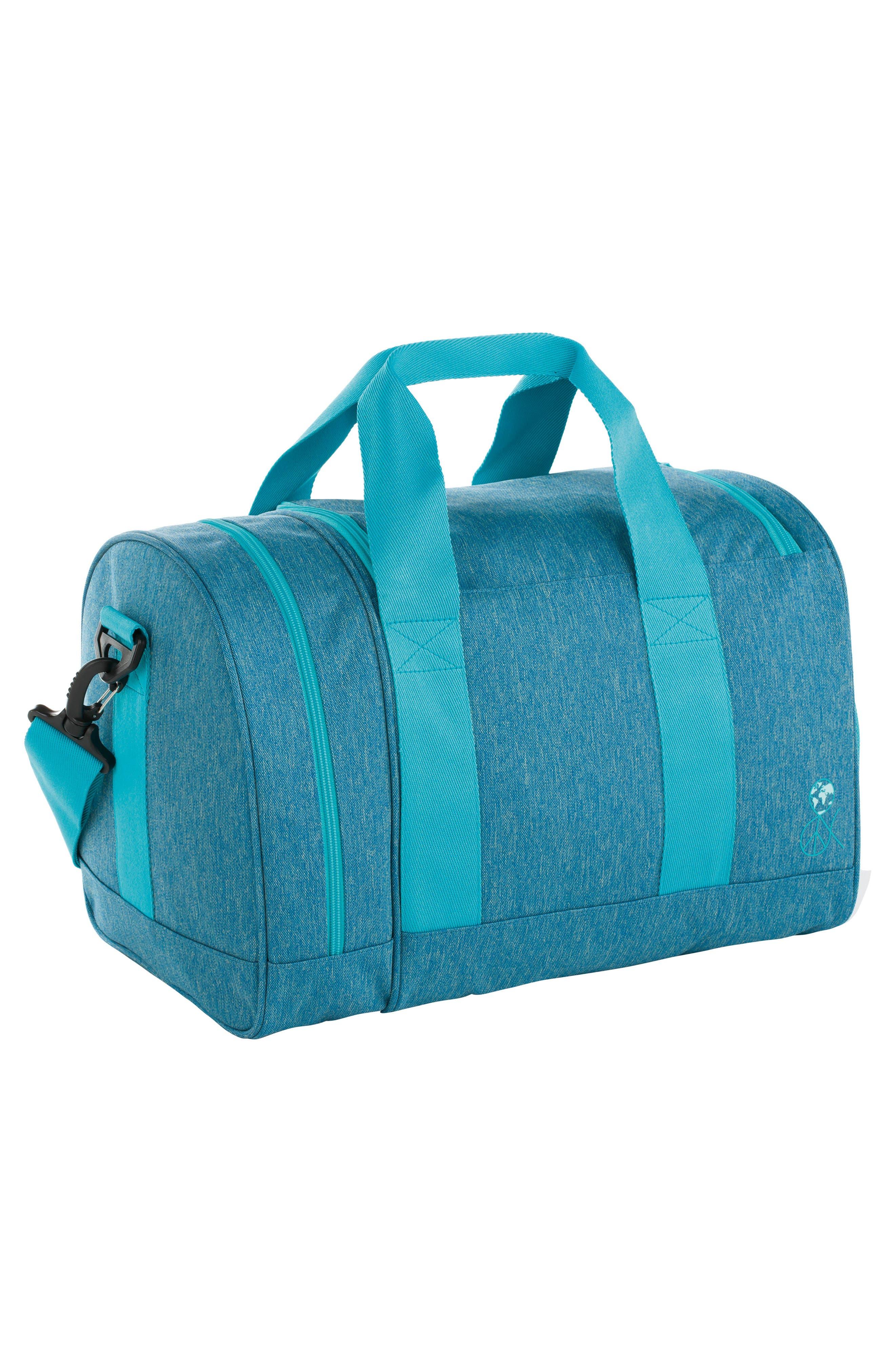 Mini About Friends Duffel Bag,                             Alternate thumbnail 2, color,                             MELANGE BLUE