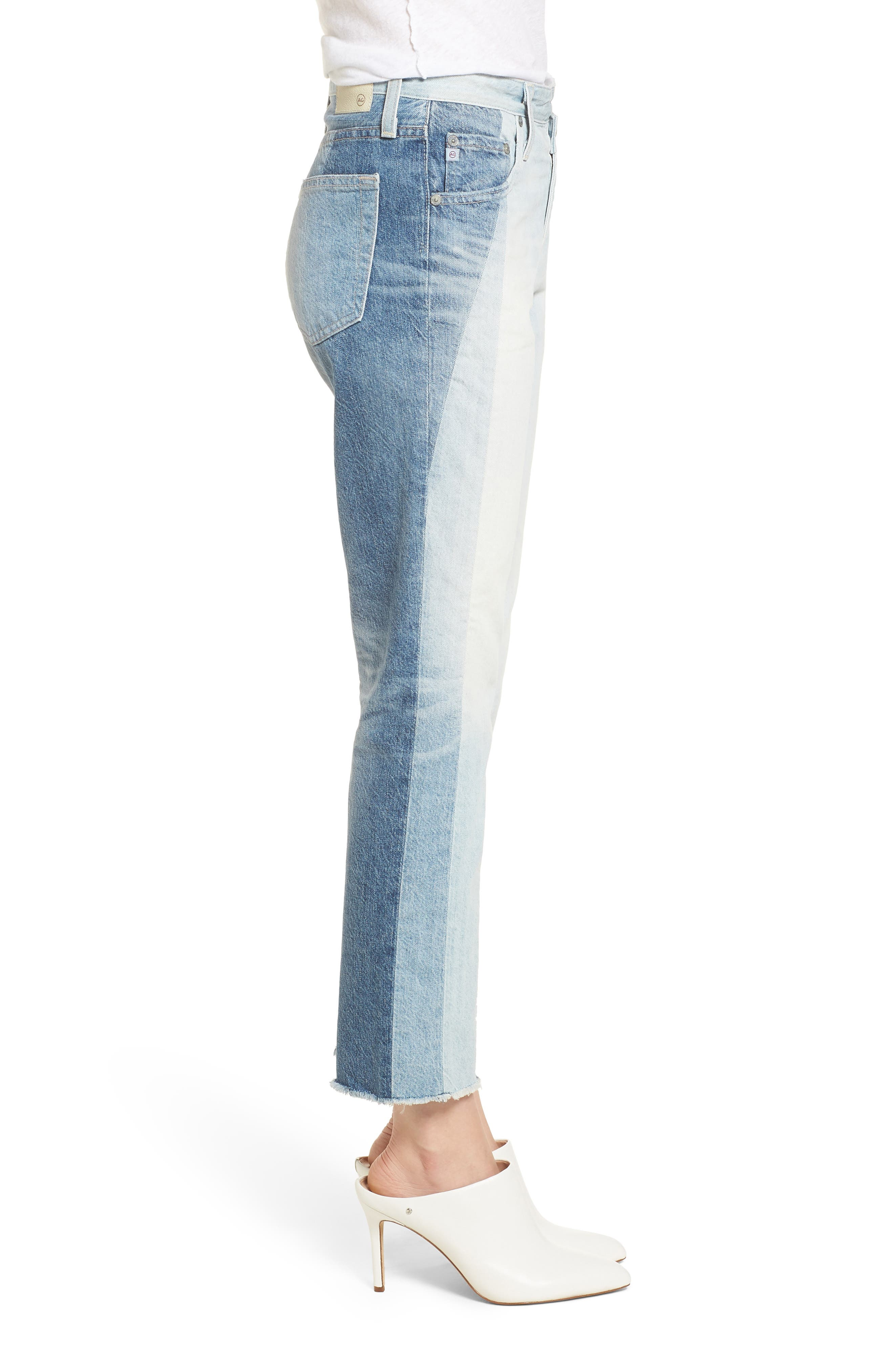 The Isabelle High Waist Crop Straight Leg Jeans,                             Alternate thumbnail 3, color,