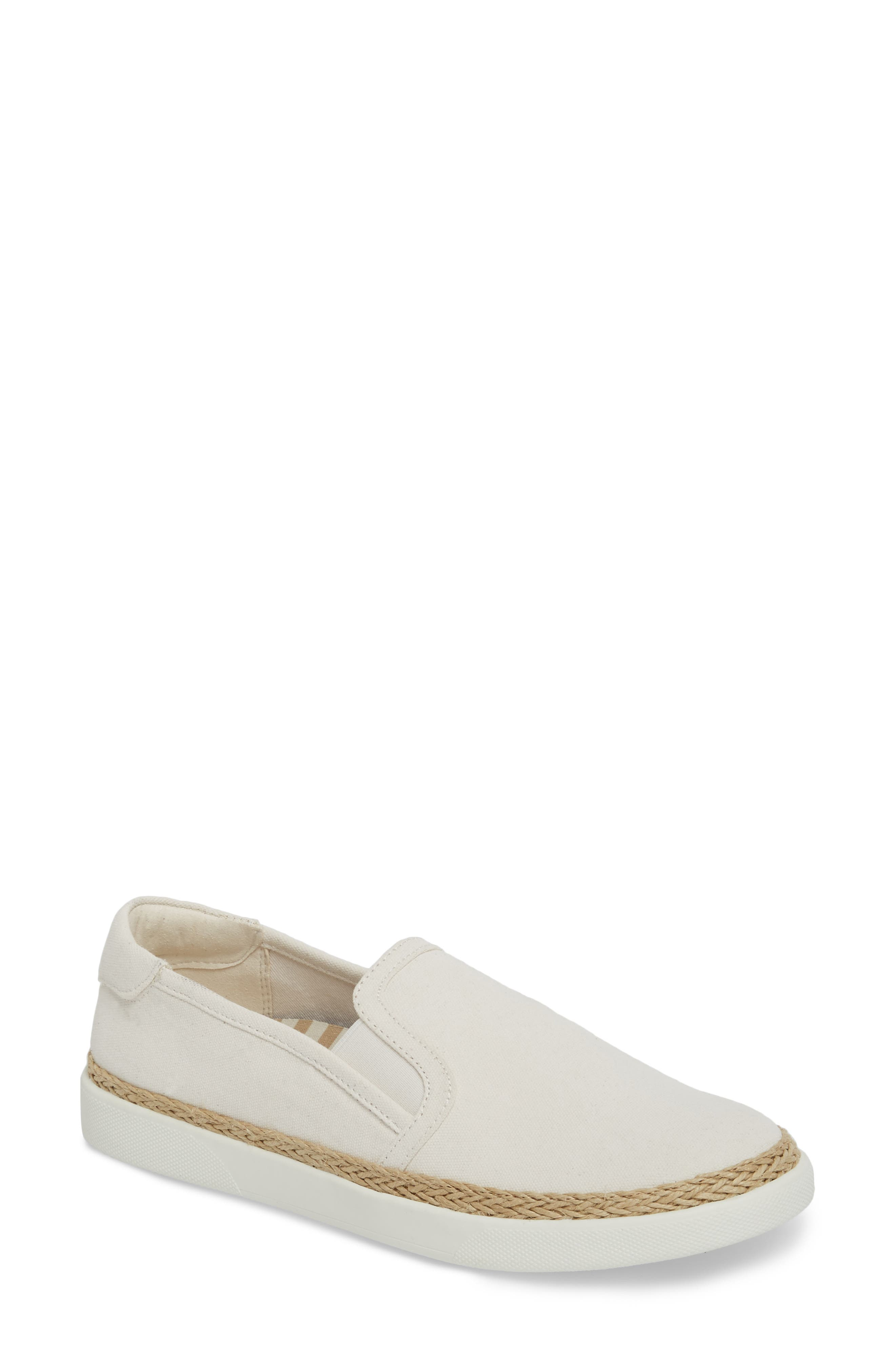 Rae Slip-On Sneaker,                         Main,                         color, IVORY CANVAS
