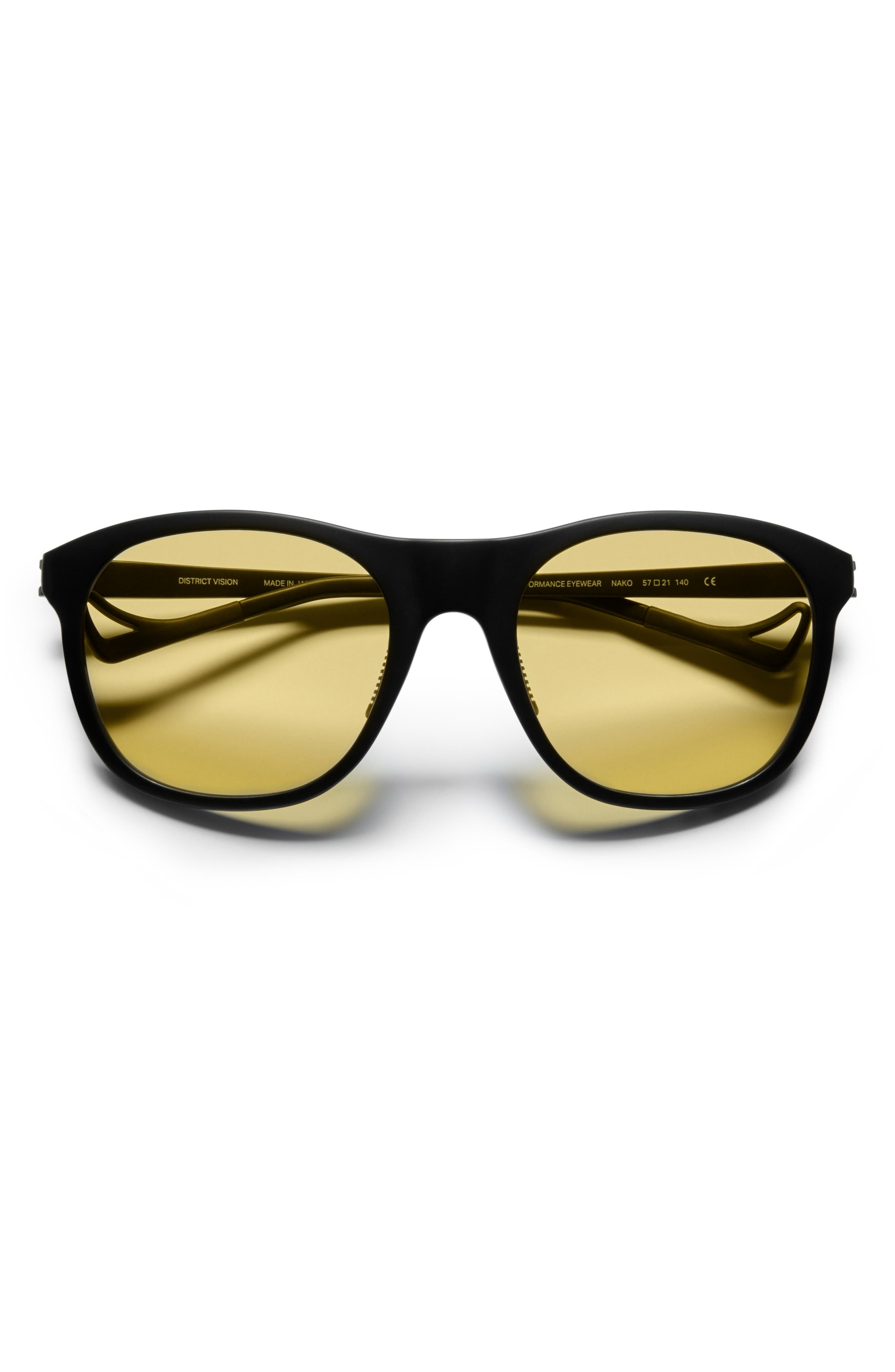 DISTRICT VISION Nako Sunglasses - Black/ Yellow