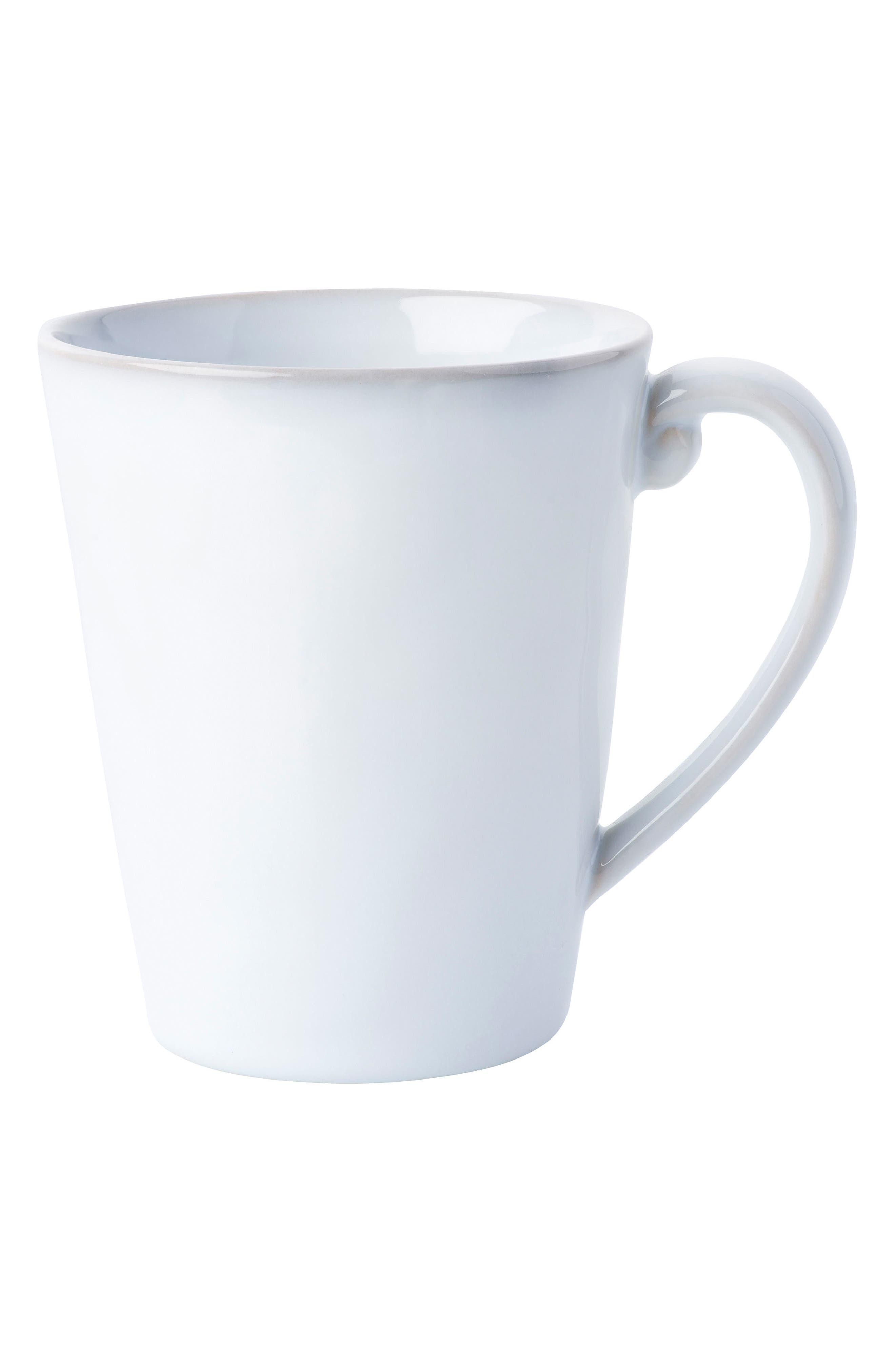 Quotidien White Truffle Ceramic Mug,                             Main thumbnail 1, color,                             WHITE TRUFFLE