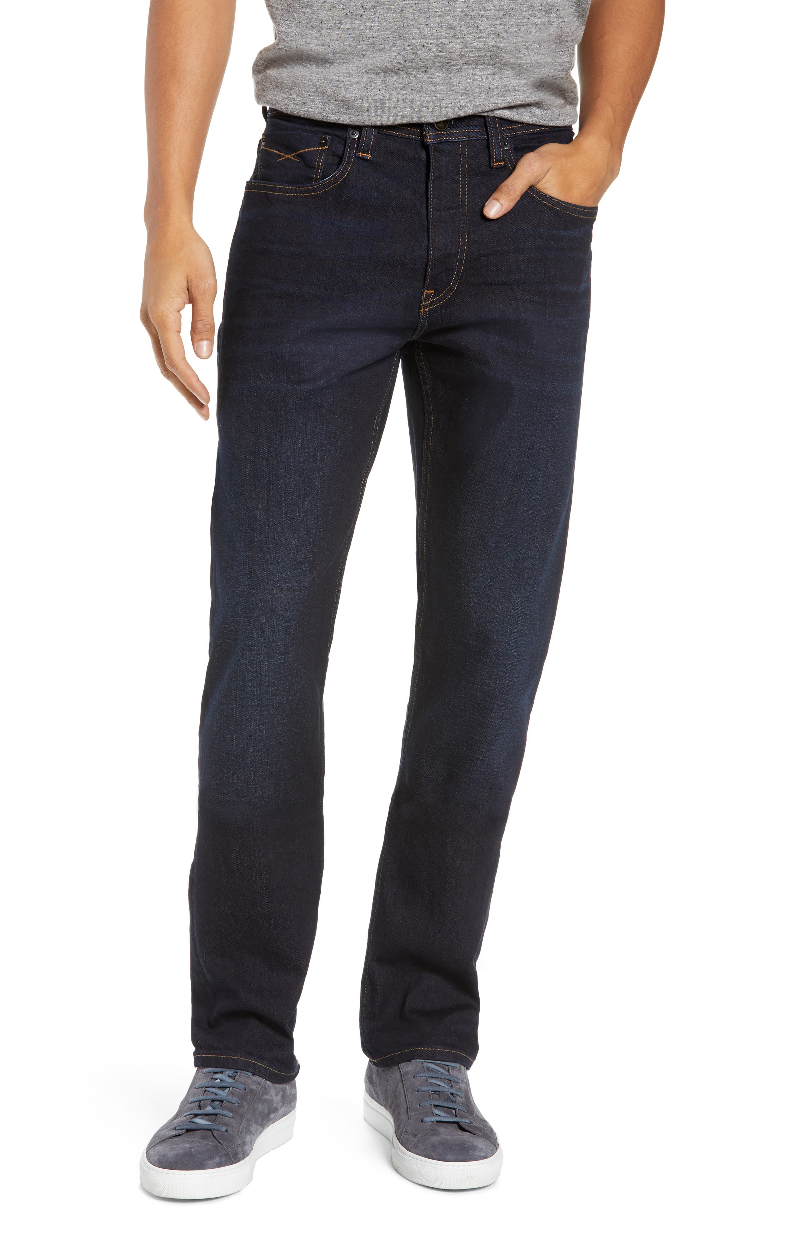 Sharp Slim Fit Jeans,                             Main thumbnail 1, color,                             DARK INDIGO