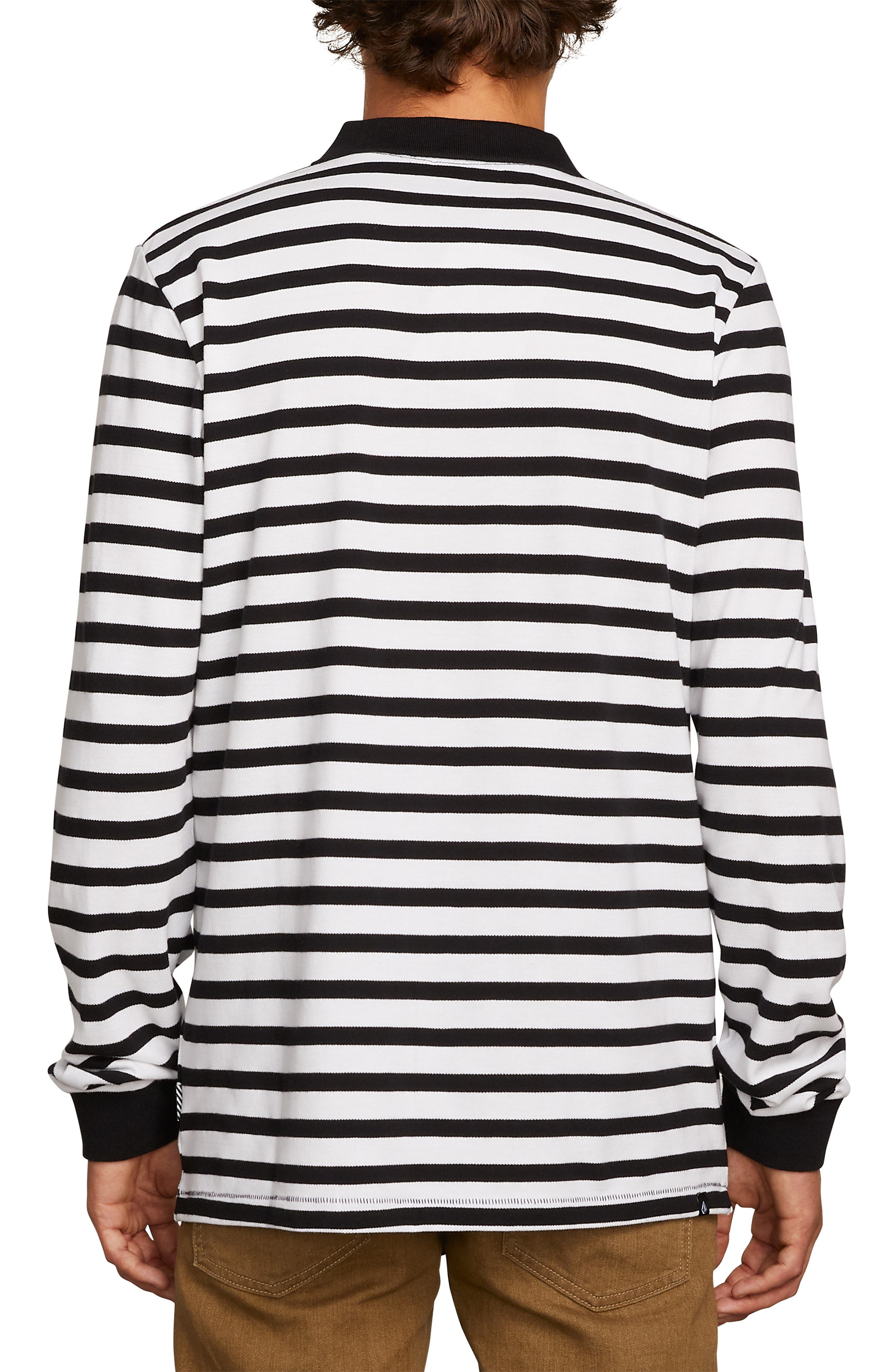 Gon James Stripe Long Sleeve Polo,                             Alternate thumbnail 2, color,                             100