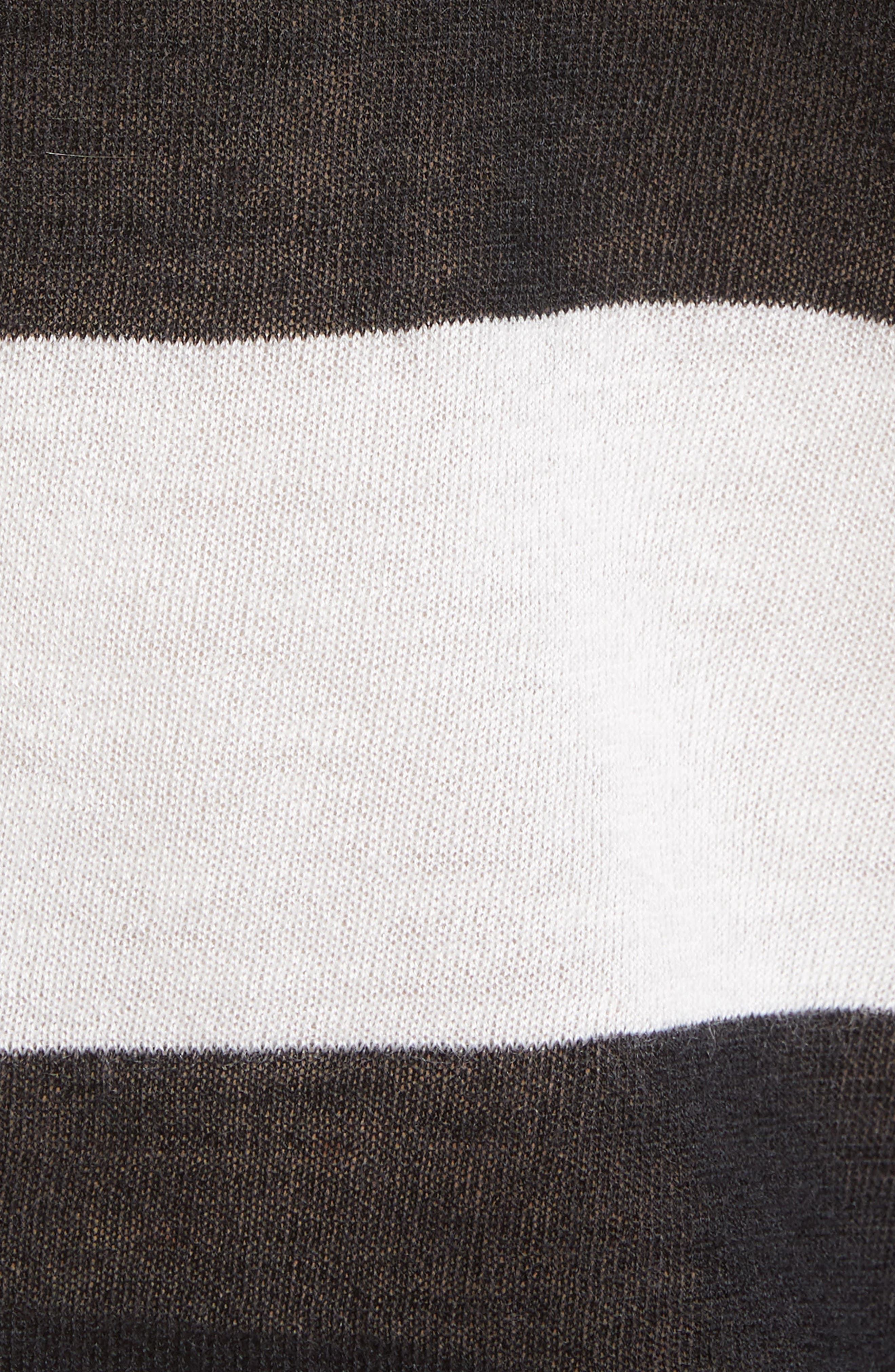 Source Stripe Cashmere Sweater,                             Alternate thumbnail 5, color,                             001