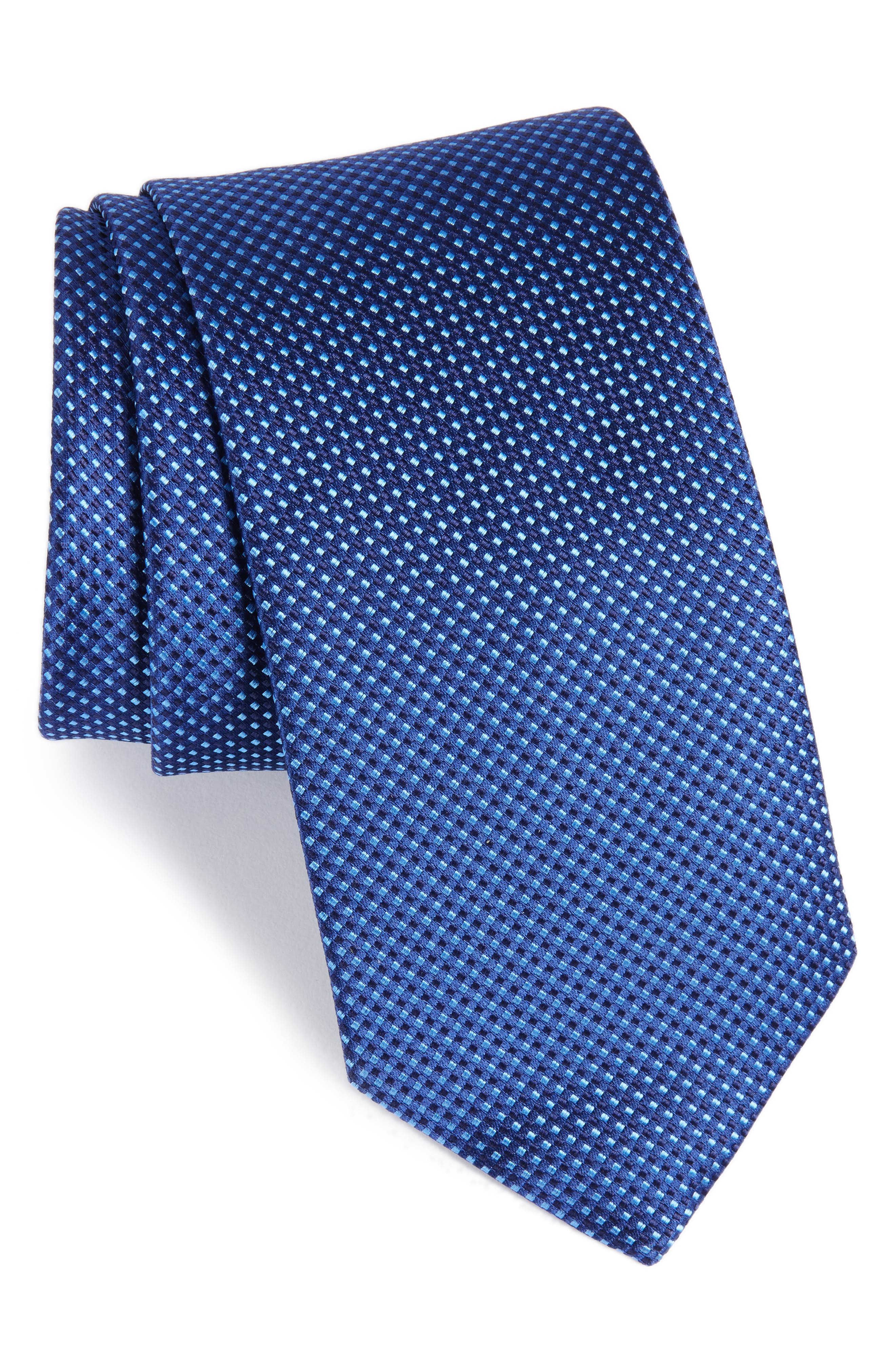 Microdot Silk Tie,                         Main,                         color, 400