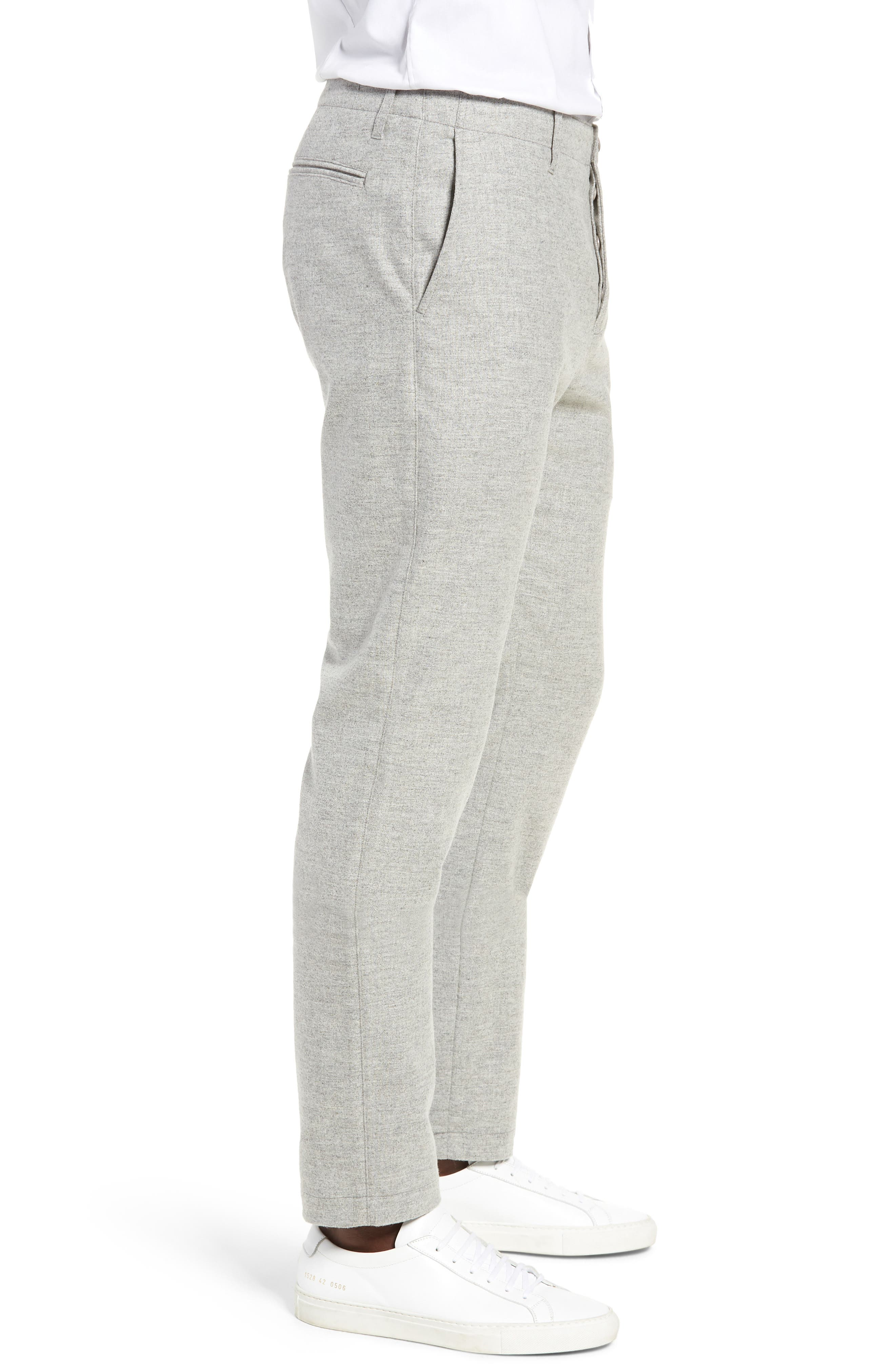 DJVU Slim Fit Trousers,                             Alternate thumbnail 3, color,                             027