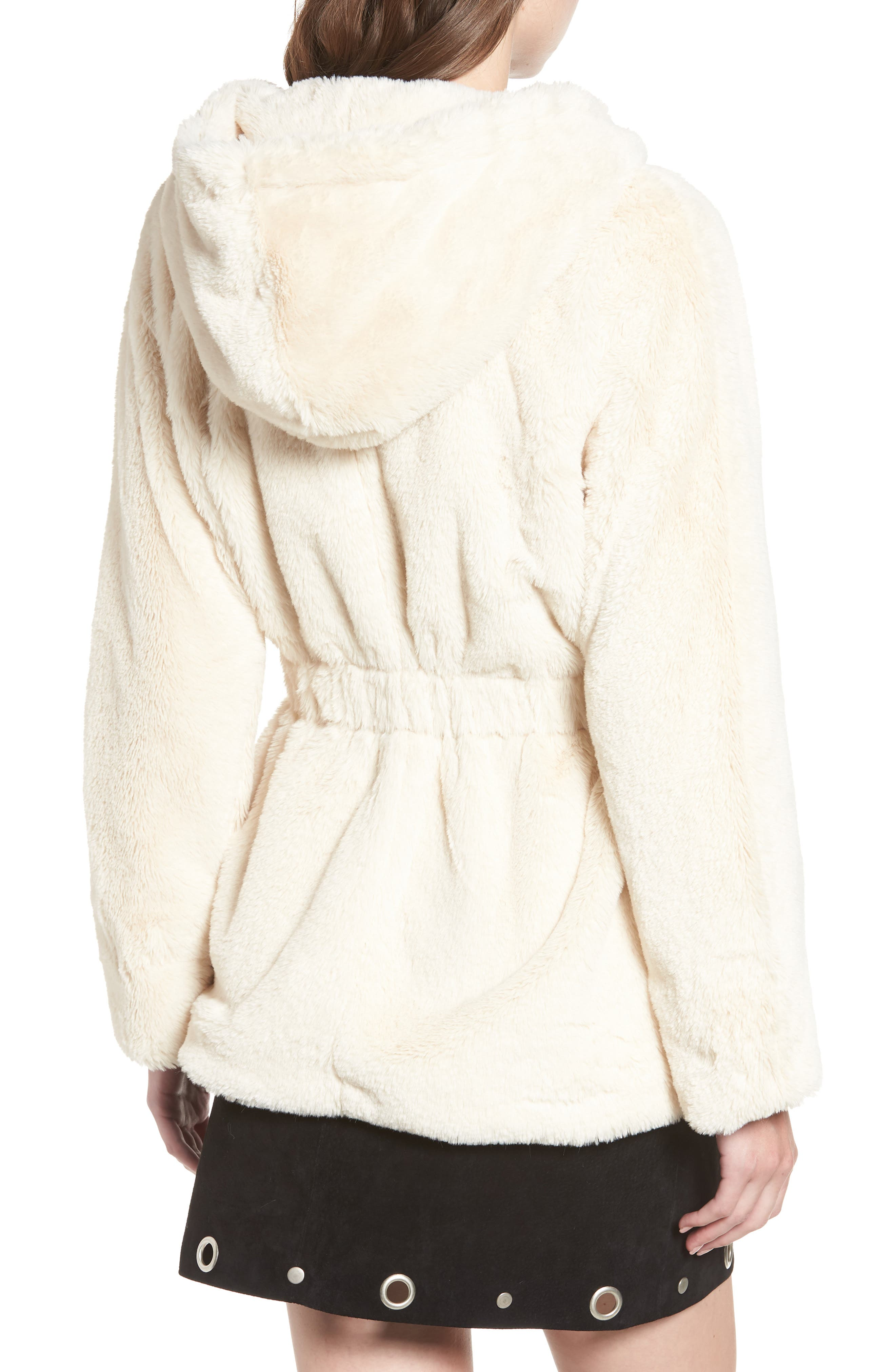 Faux Fur Hooded Jacket,                             Alternate thumbnail 2, color,                             900