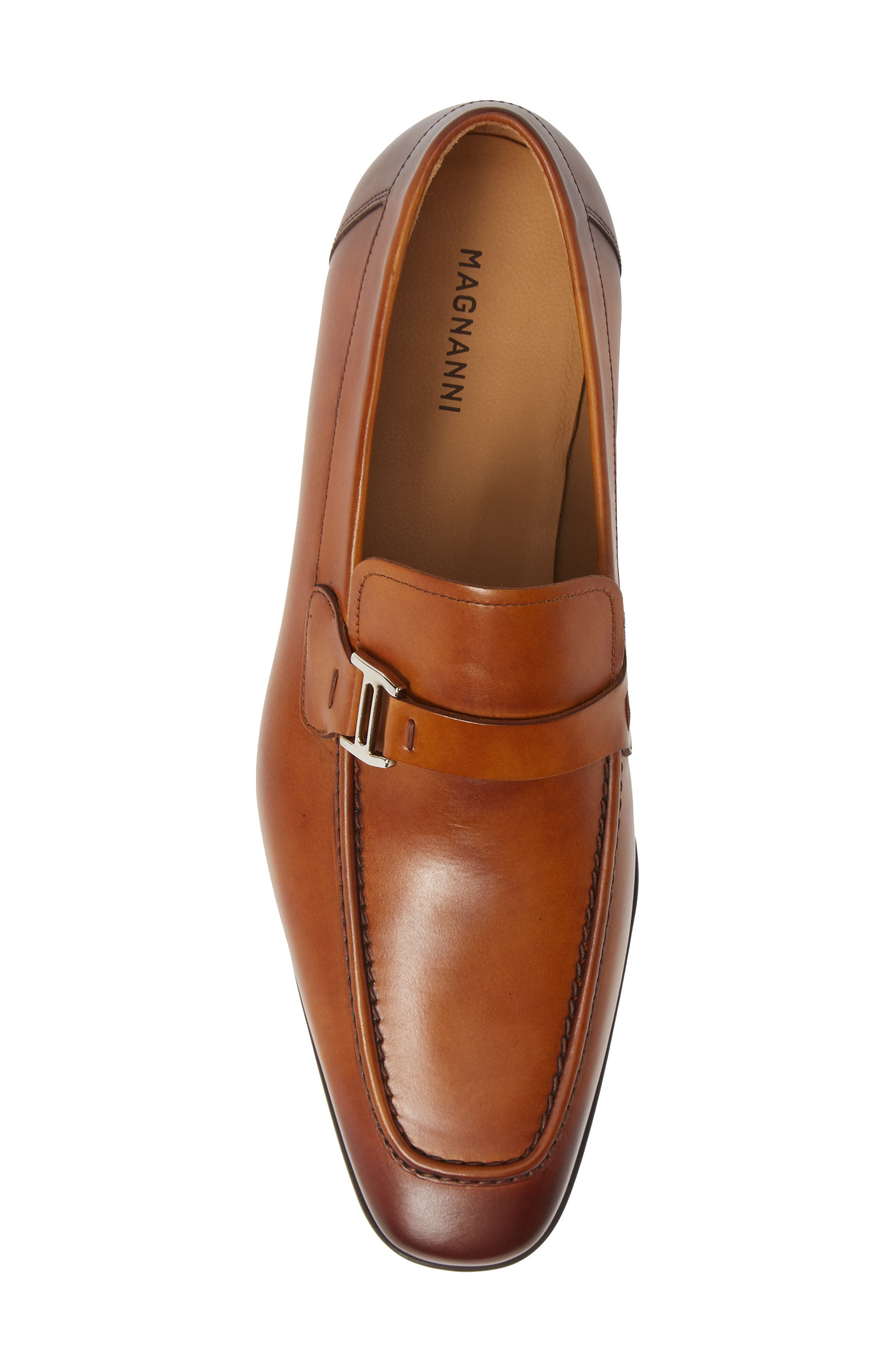 'Lino' Loafer,                             Alternate thumbnail 5, color,                             BROWN LEATHER