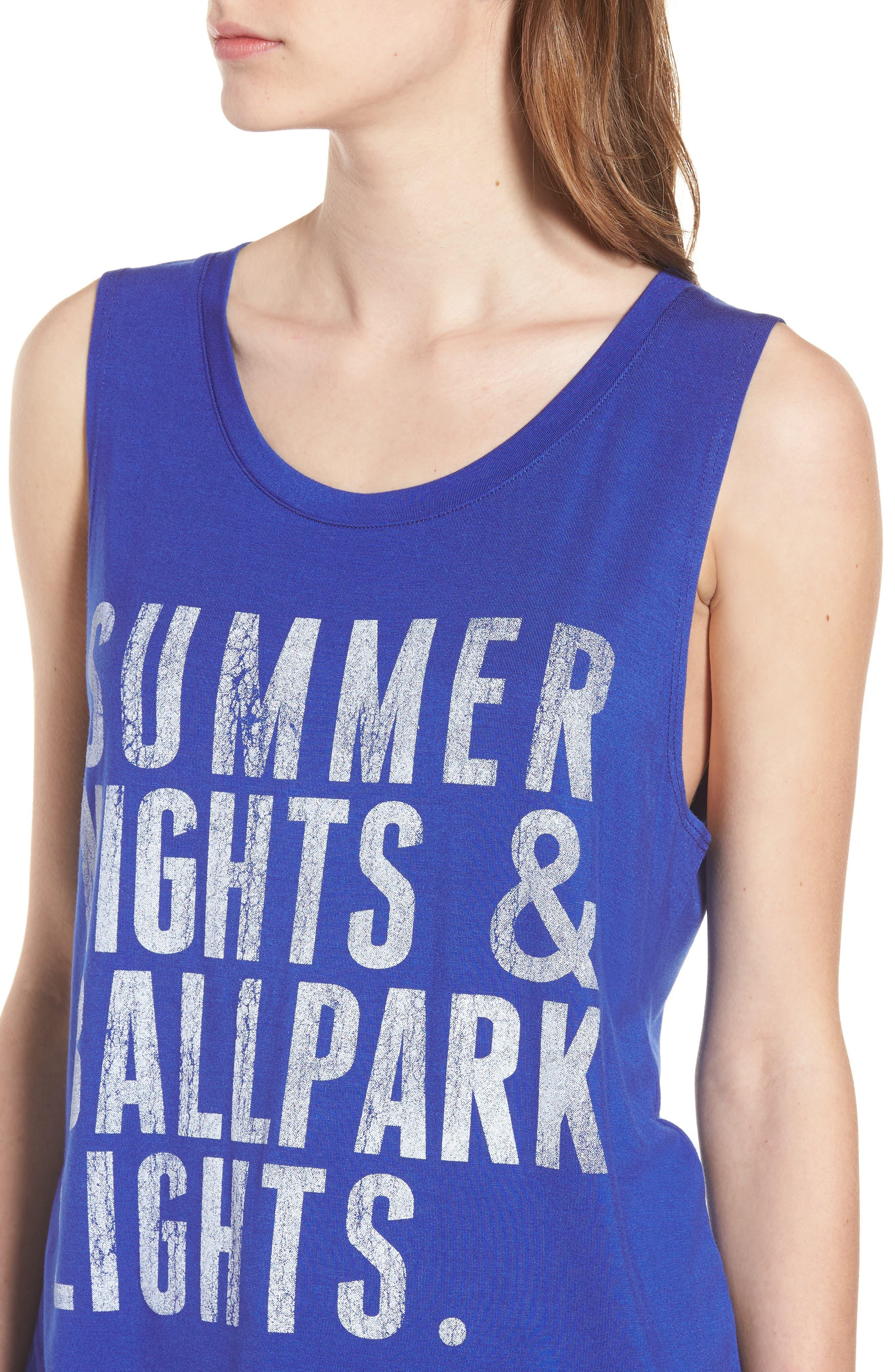 Summer Nights & Ballpark Lights Tank,                             Alternate thumbnail 4, color,