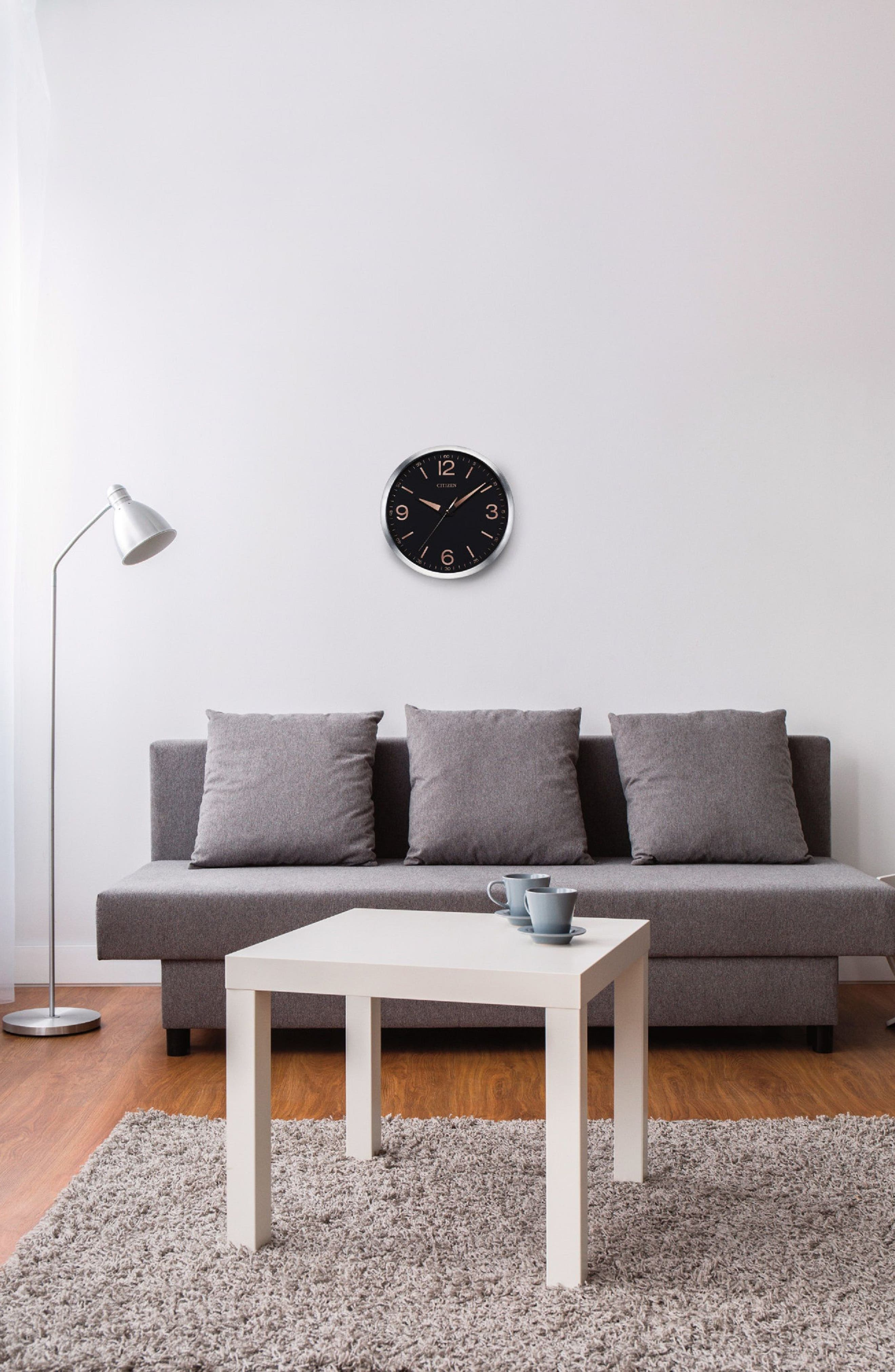 Modern Gallery Wall Clock,                             Alternate thumbnail 2, color,                             BLACK