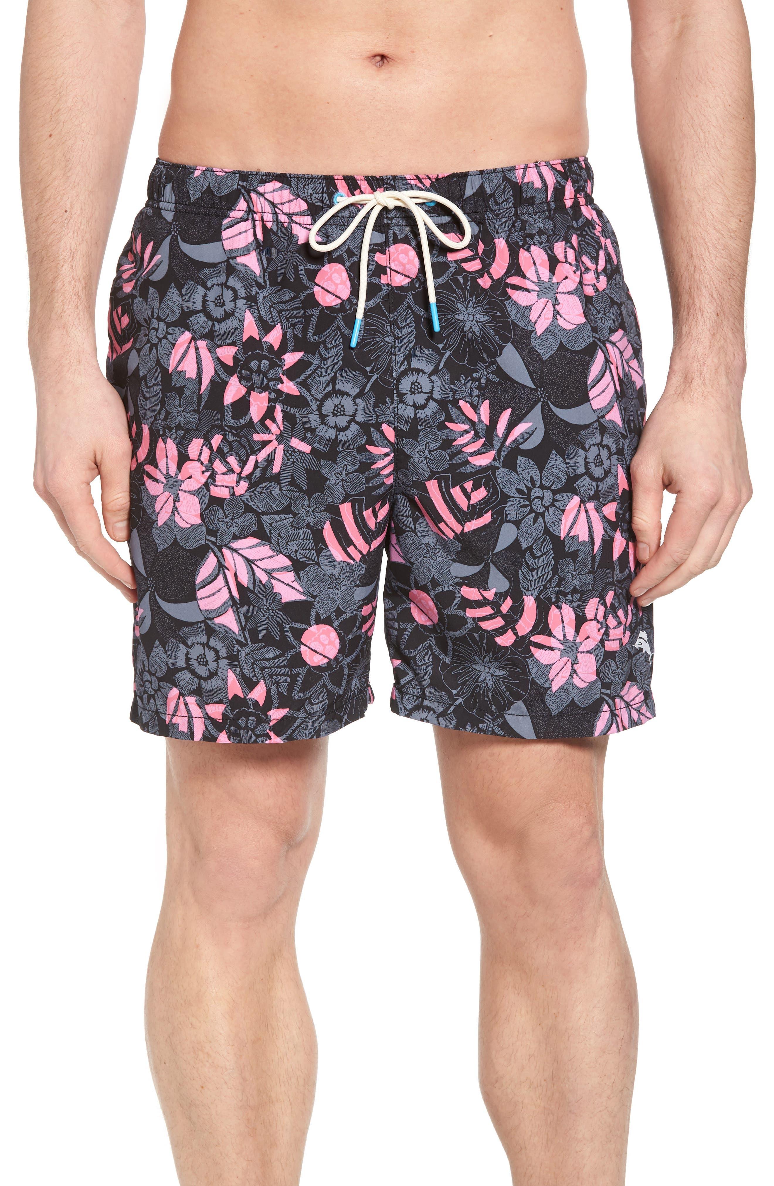 Naples Subtropical Palm Swim Trunks,                         Main,                         color,