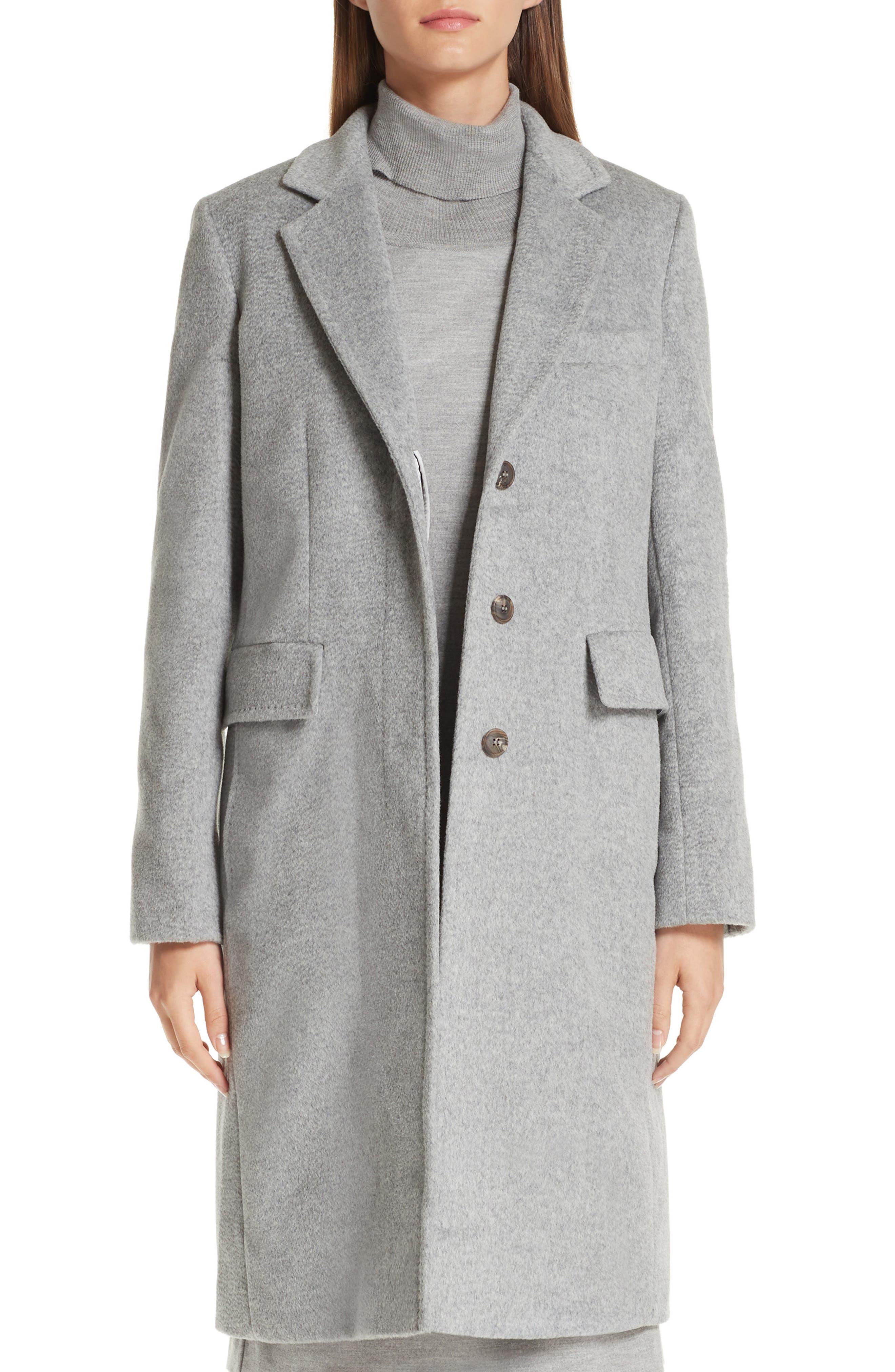 MAX MARA Furetto Camel Hair Coat, Main, color, 054
