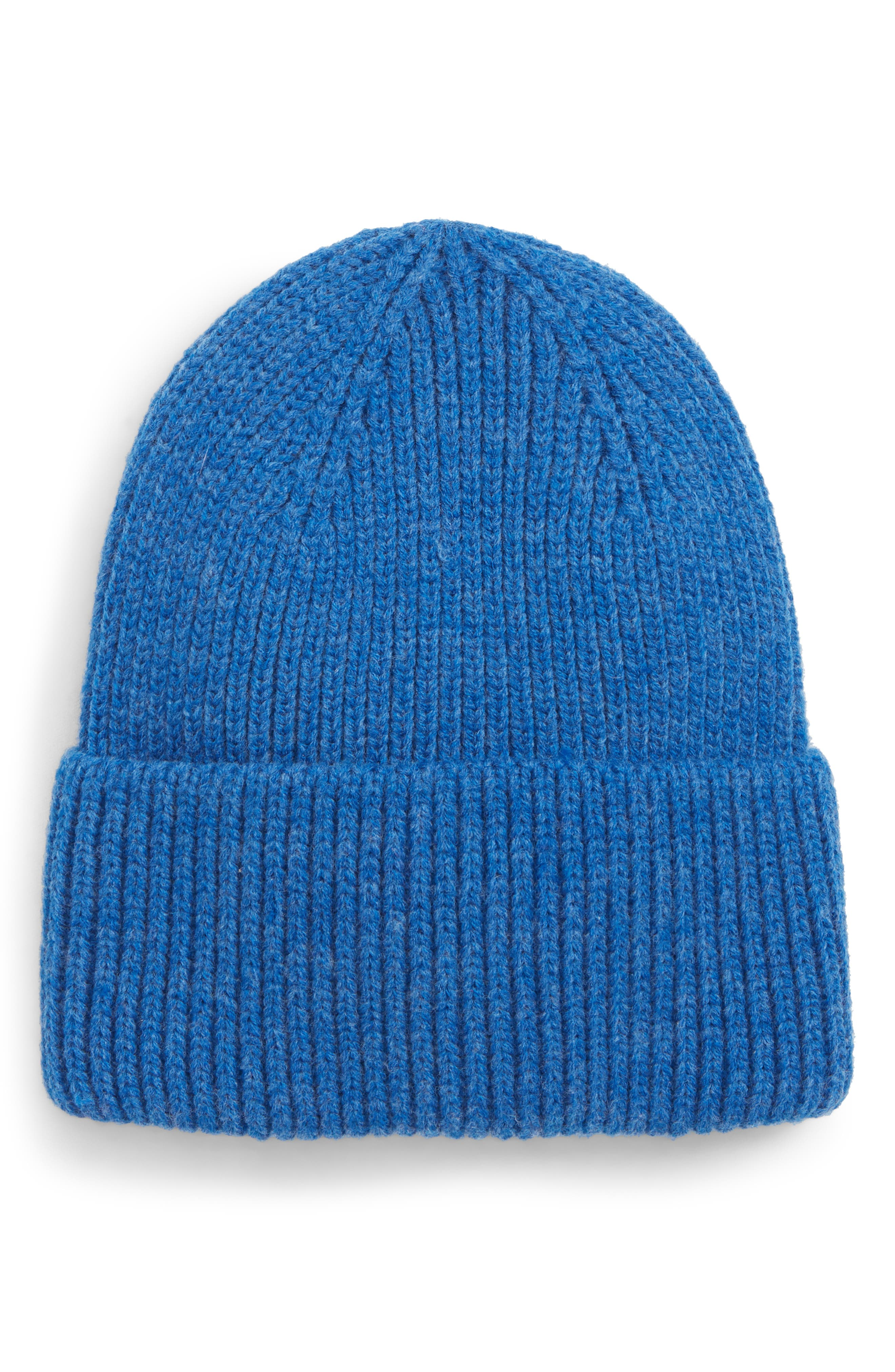 Cuff Beanie,                             Main thumbnail 1, color,                             BLUE CAMP
