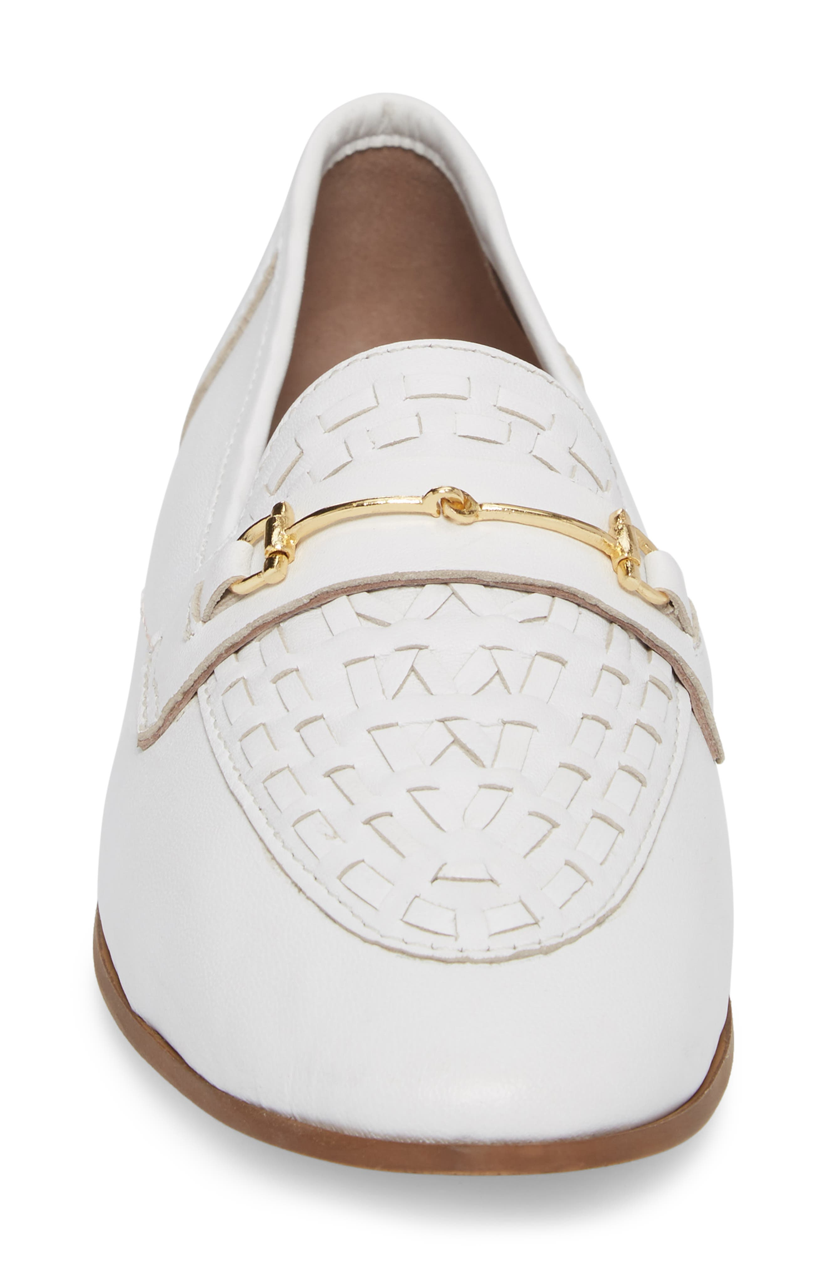 Kingley Woven Loafer,                             Alternate thumbnail 4, color,                             WHITE