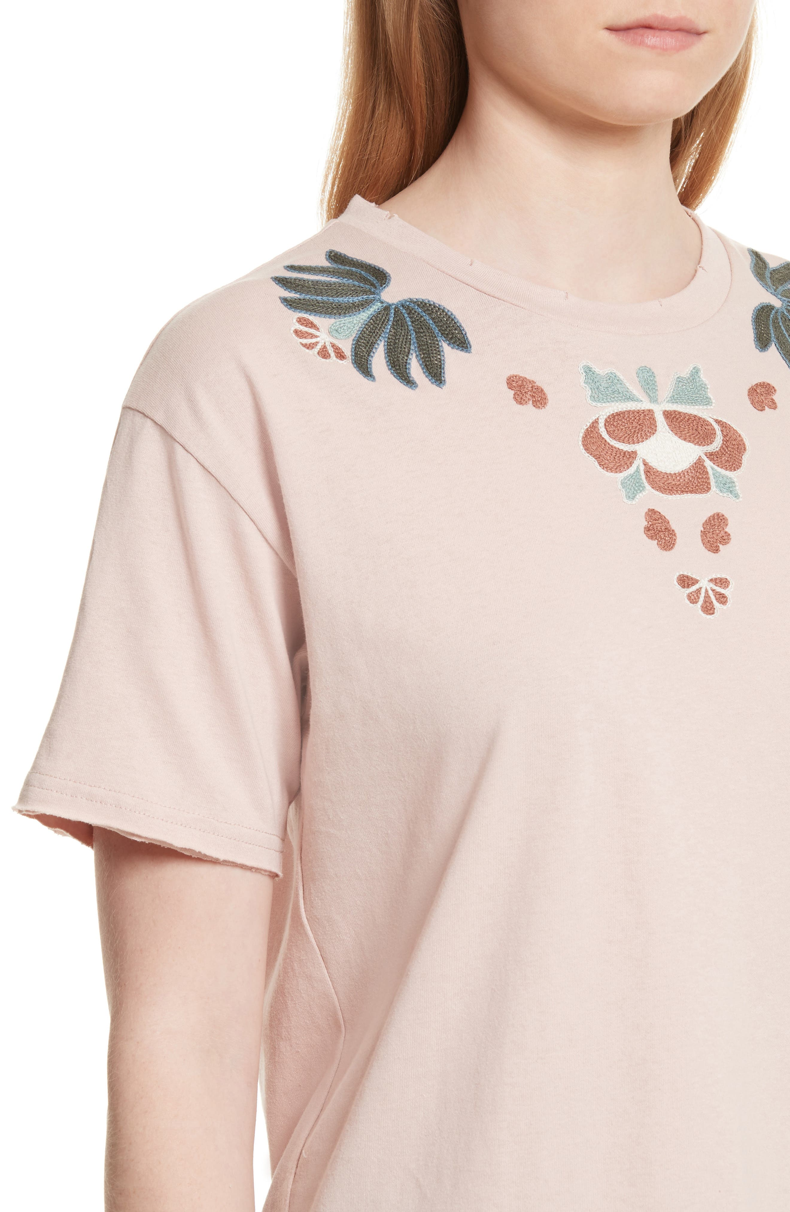 Ronnie Embroidered Tee,                             Alternate thumbnail 4, color,