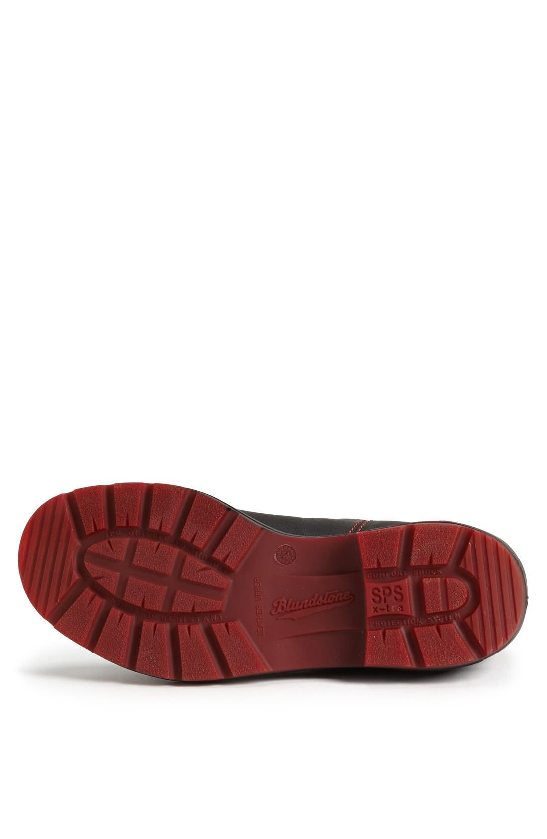 Chelsea Boot,                             Alternate thumbnail 4, color,                             BLACK/ RED GORE