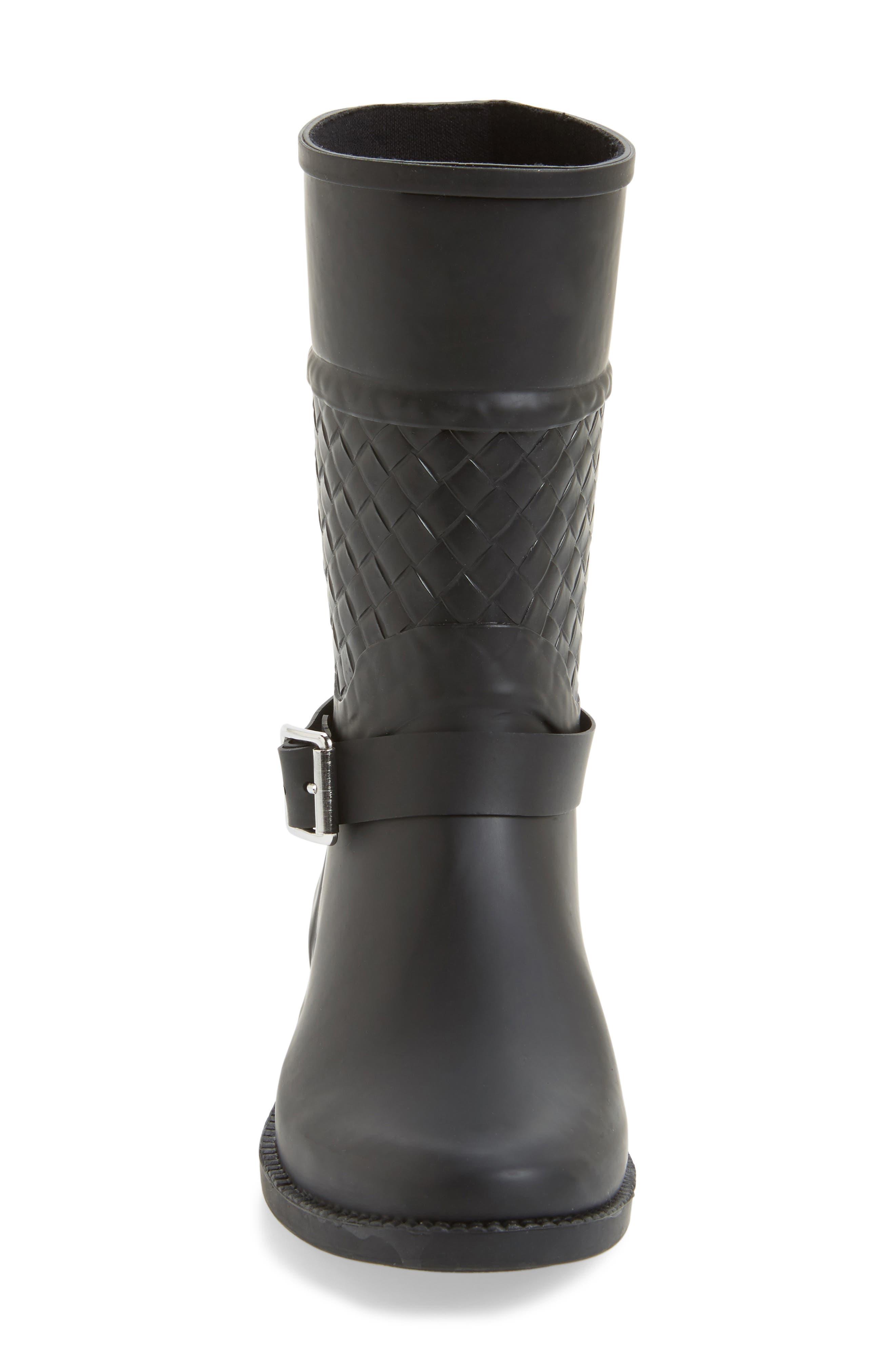 Waterproof Woven Shaft Rain Boot,                             Alternate thumbnail 3, color,