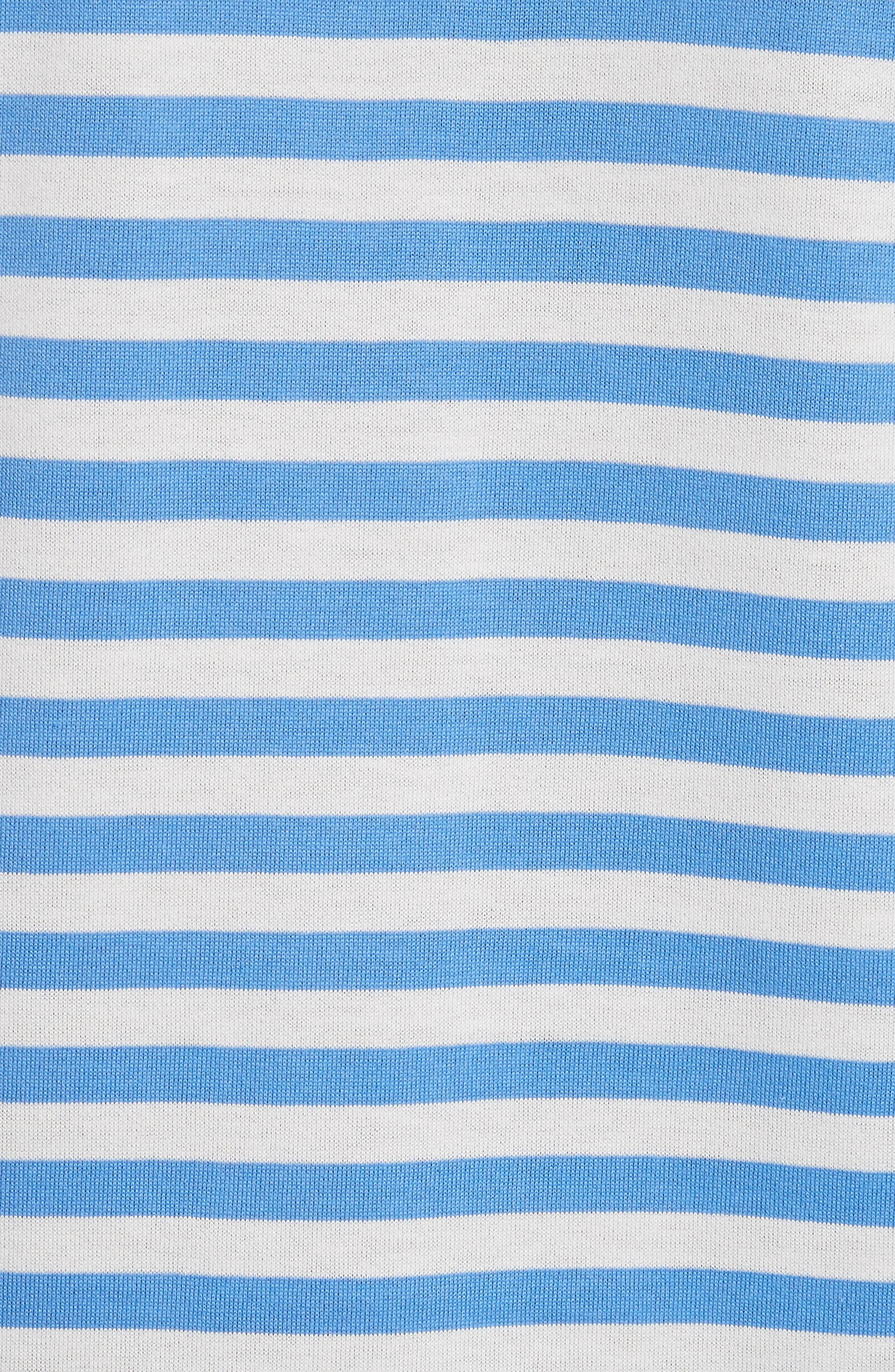 Long Sleeve Stripe Crewneck T-Shirt,                             Alternate thumbnail 5, color,                             BLUE