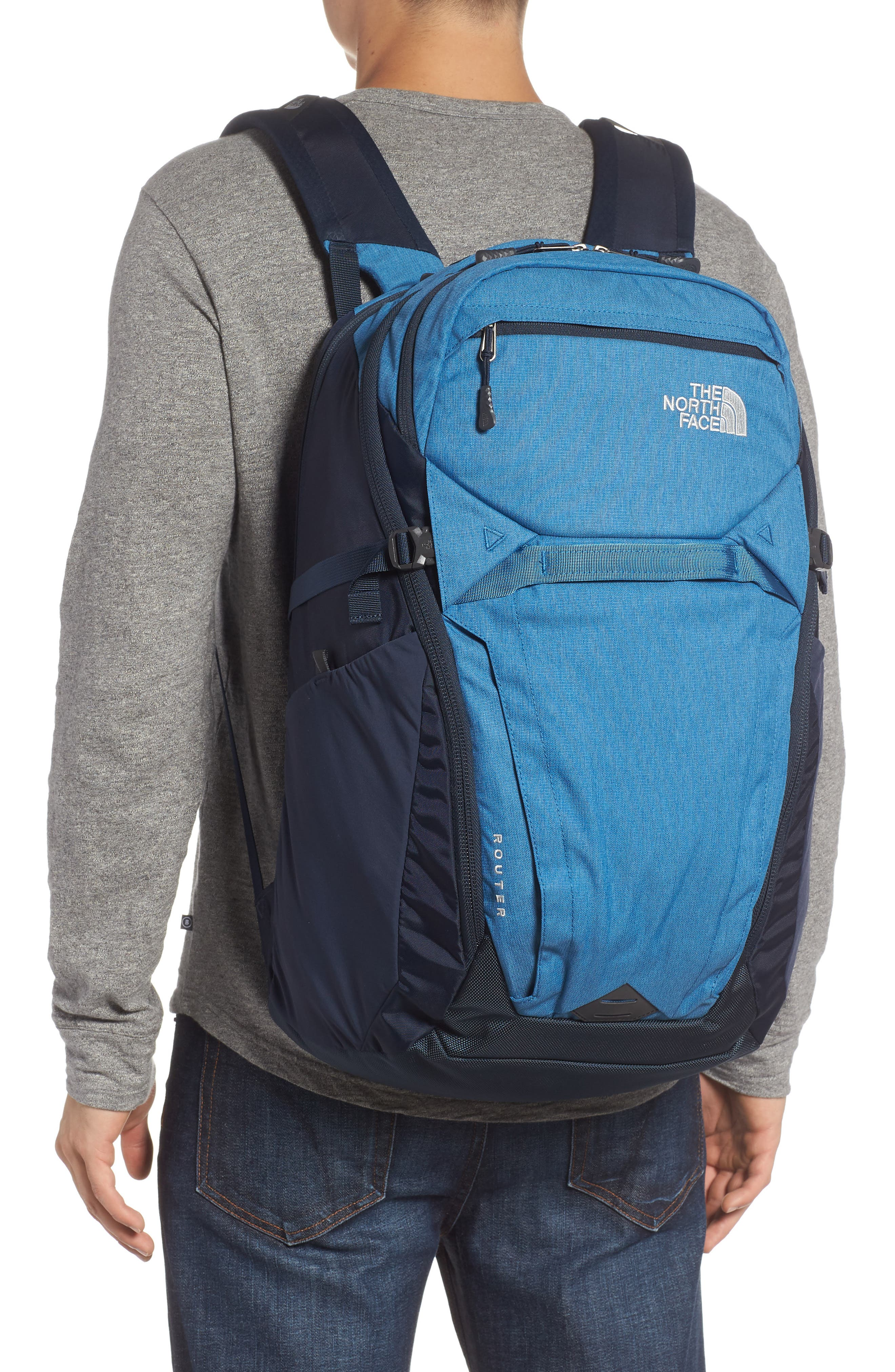 THE NORTH FACE,                             Router Backpack,                             Alternate thumbnail 2, color,                             DISH BLUE HEATHER/ URBAN NAVY